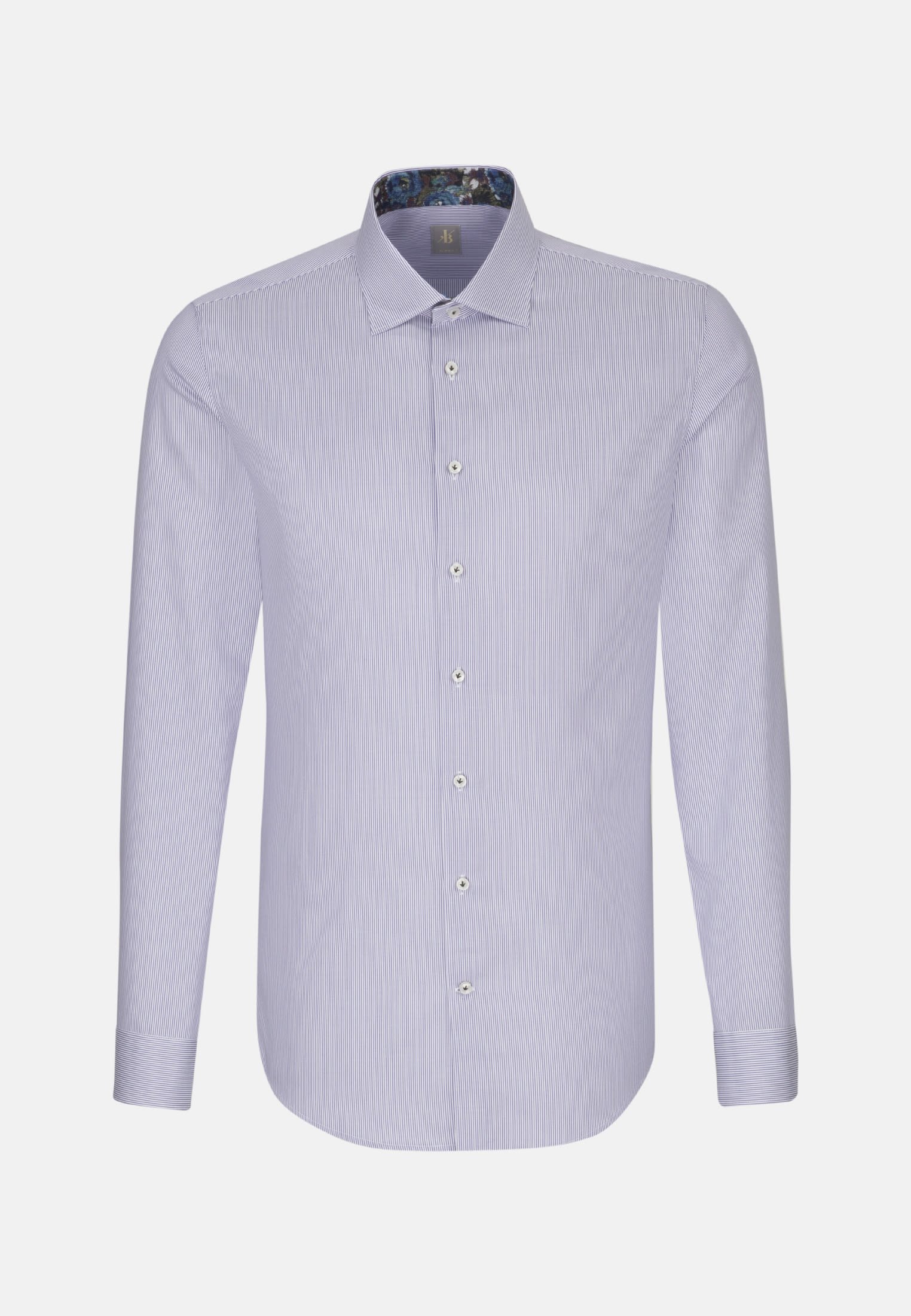 Twill Business Hemd in Slim Fit mit Kentkragen in Lila |  Jacques Britt Onlineshop