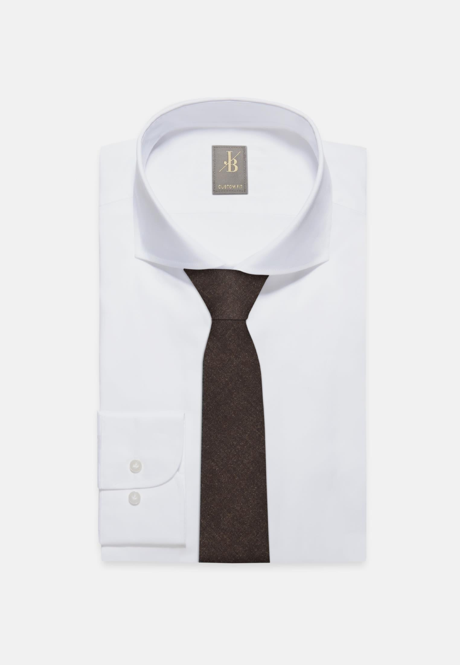 Krawatte aus 100% Wolle 7 cm Breit in Braun |  Jacques Britt Onlineshop