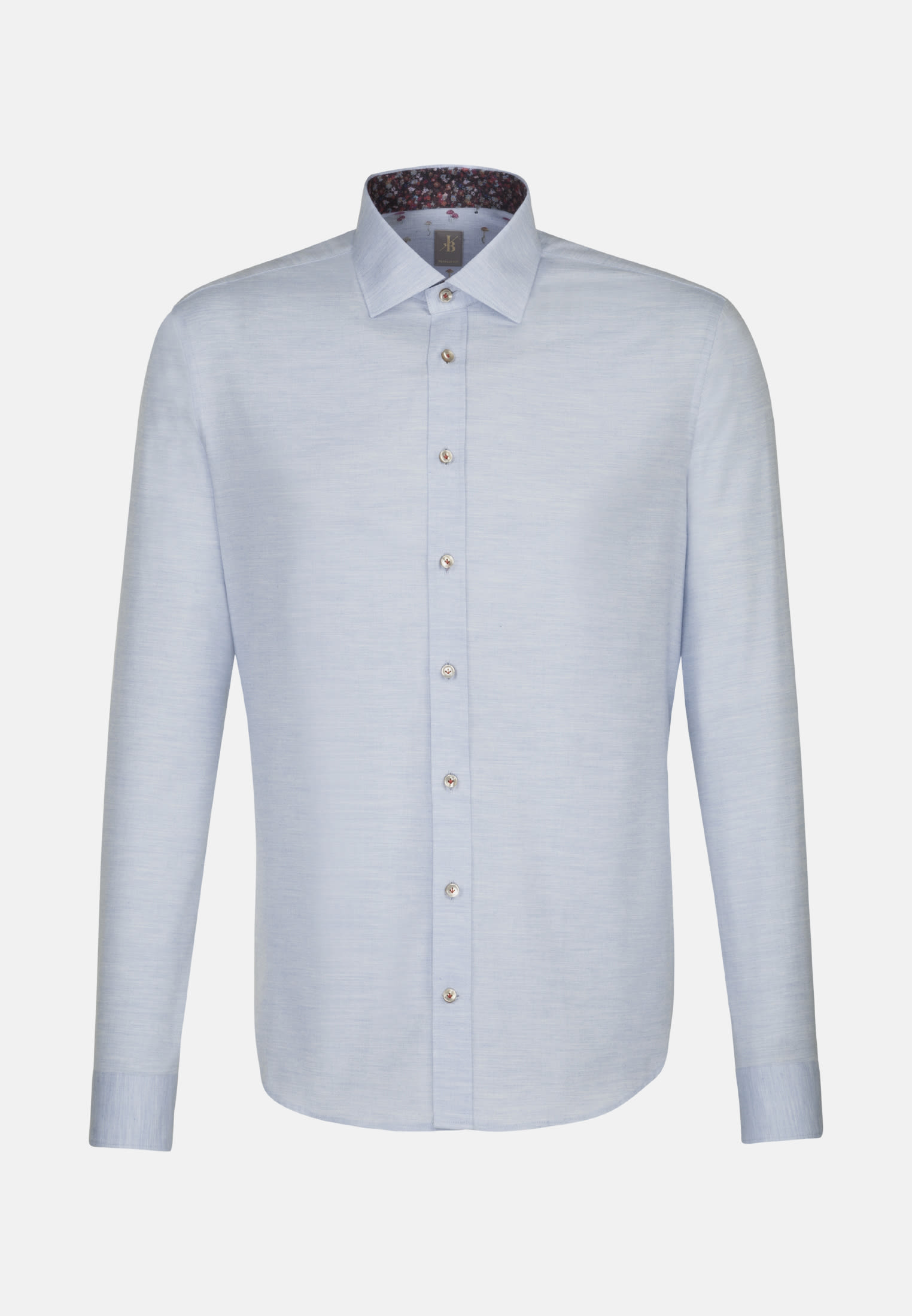 Flanell Smart Casual Hemd in Perfect Fit mit Kentkragen in Hellblau |  Jacques Britt Onlineshop