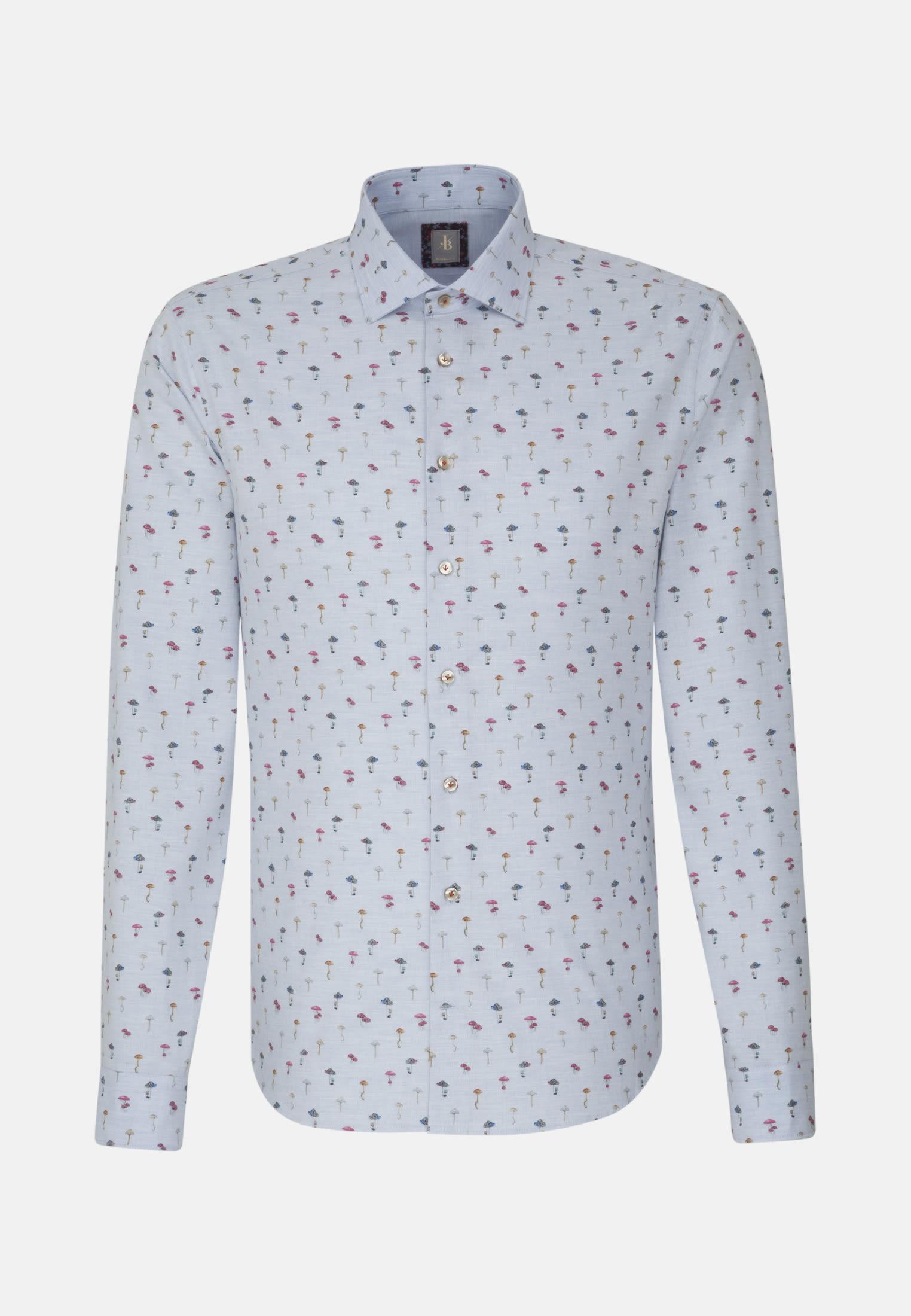 Bügelfreies Melange Garne Smart Casual Hemd in Perfect Fit mit Kentkragen in Hellblau |  Jacques Britt Onlineshop
