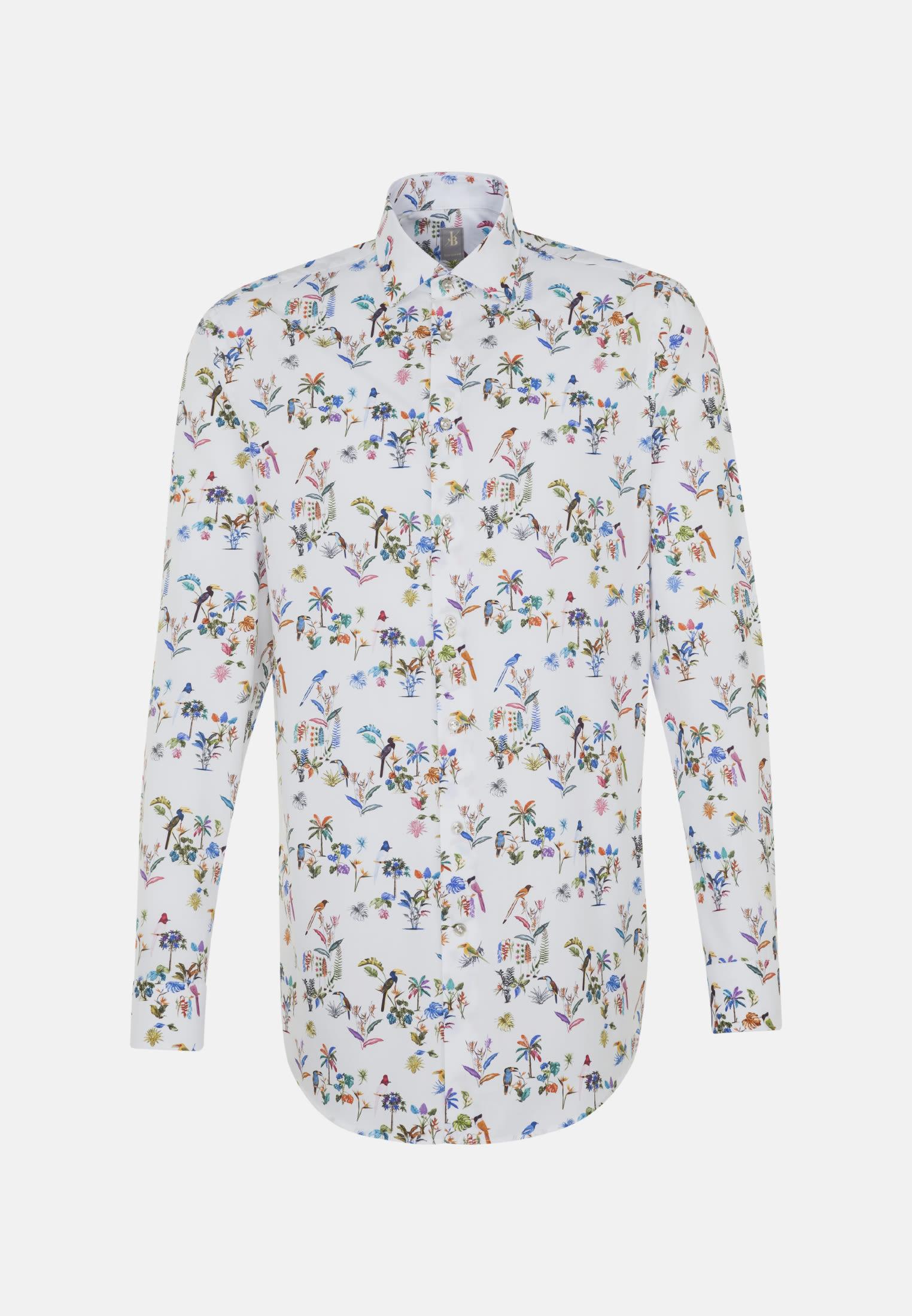 Popeline Business Hemd in Custom Fit mit Kentkragen in Mittelblau    Jacques Britt Onlineshop