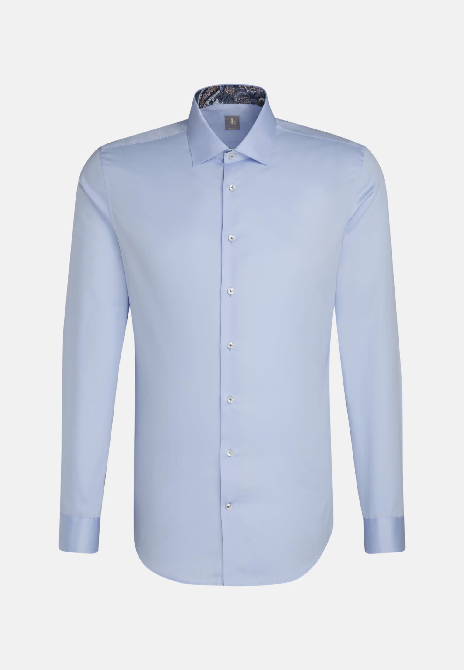 Satin Business Hemd in Slim Fit mit Kentkragen in Hellblau    Jacques Britt Onlineshop