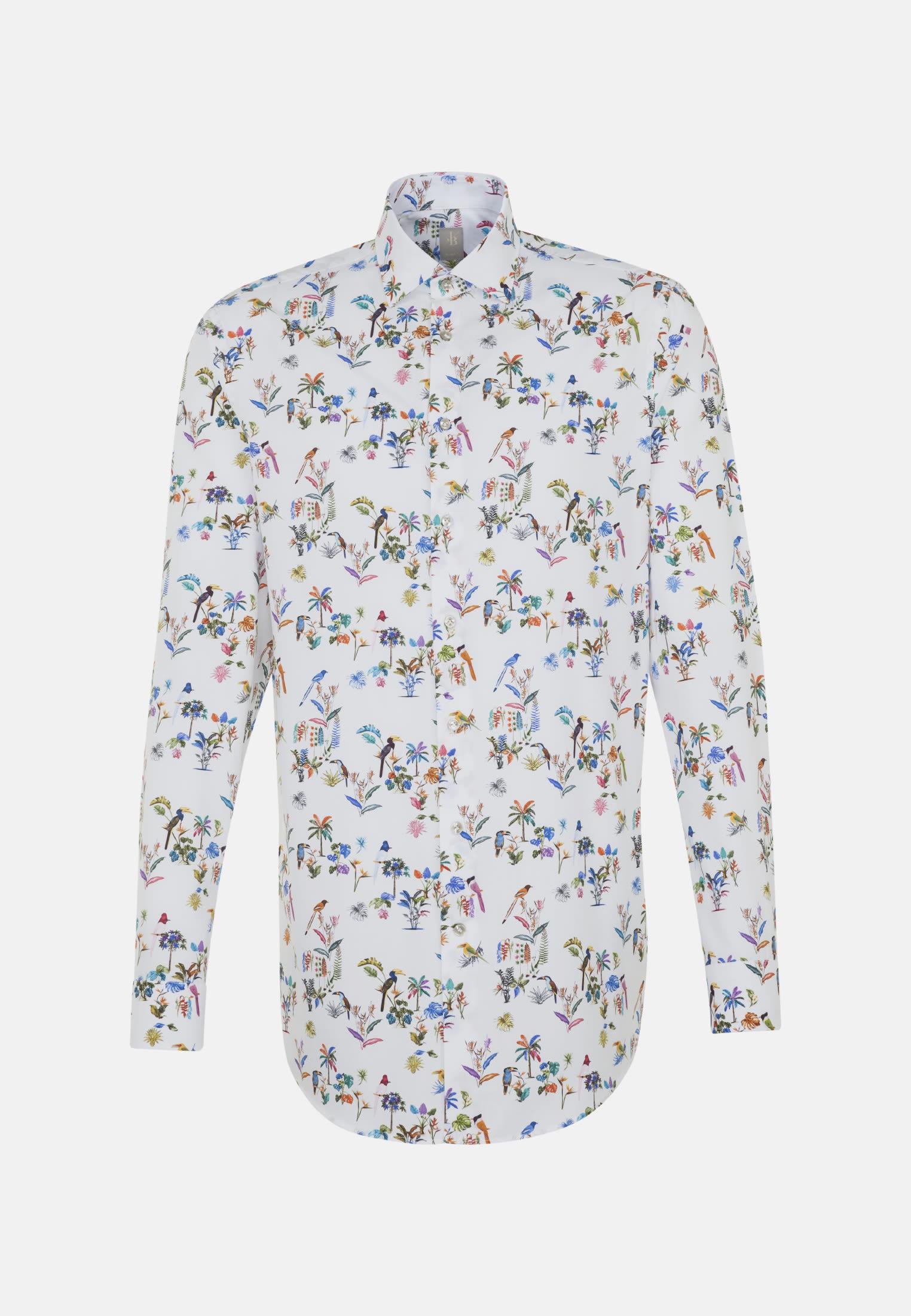 Popeline Business Hemd in Slim Fit mit Kentkragen in Mittelblau |  Jacques Britt Onlineshop
