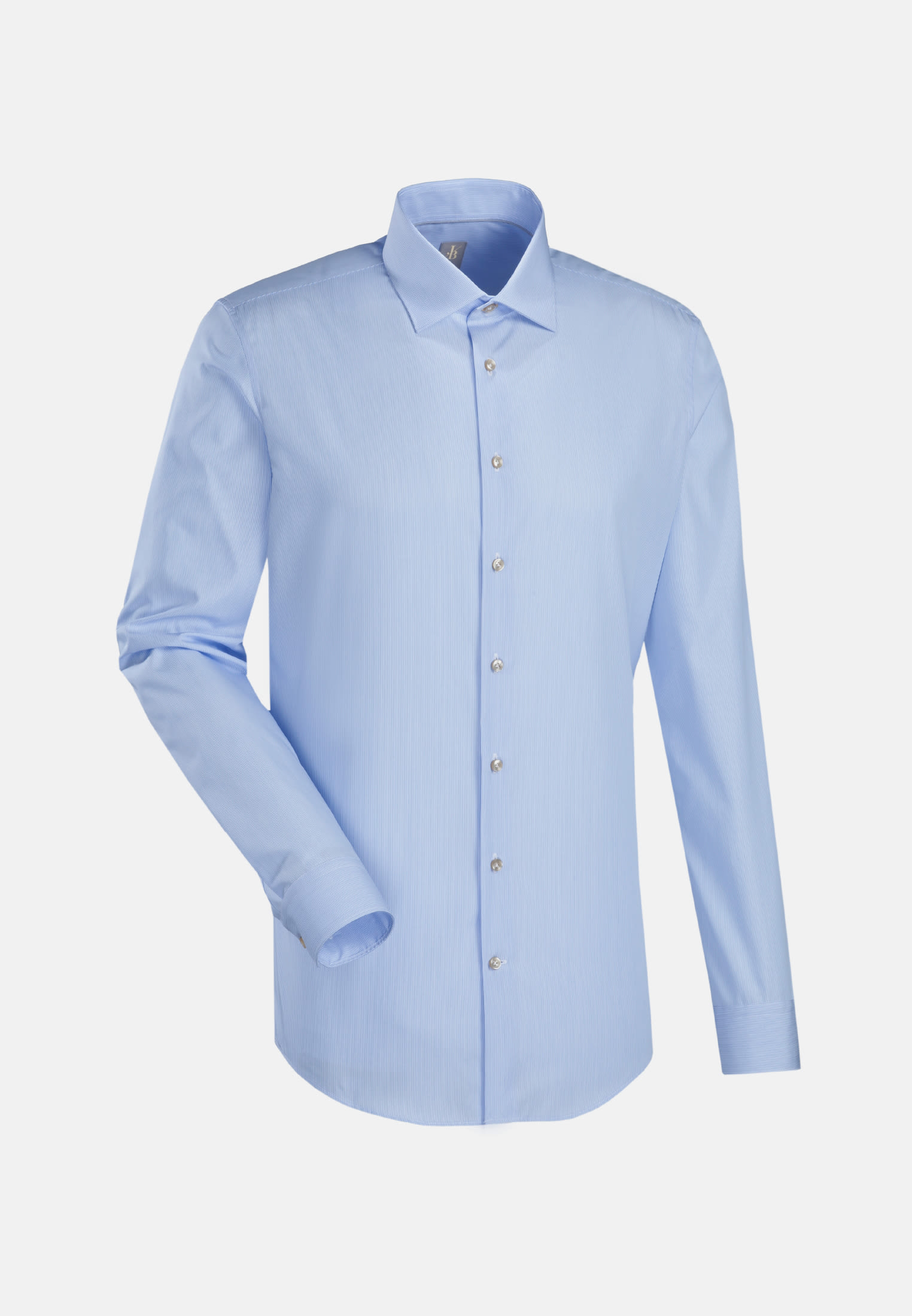 Popeline Business Hemd in Slim Fit mit Kentkragen in Hellblau |  Jacques Britt Onlineshop