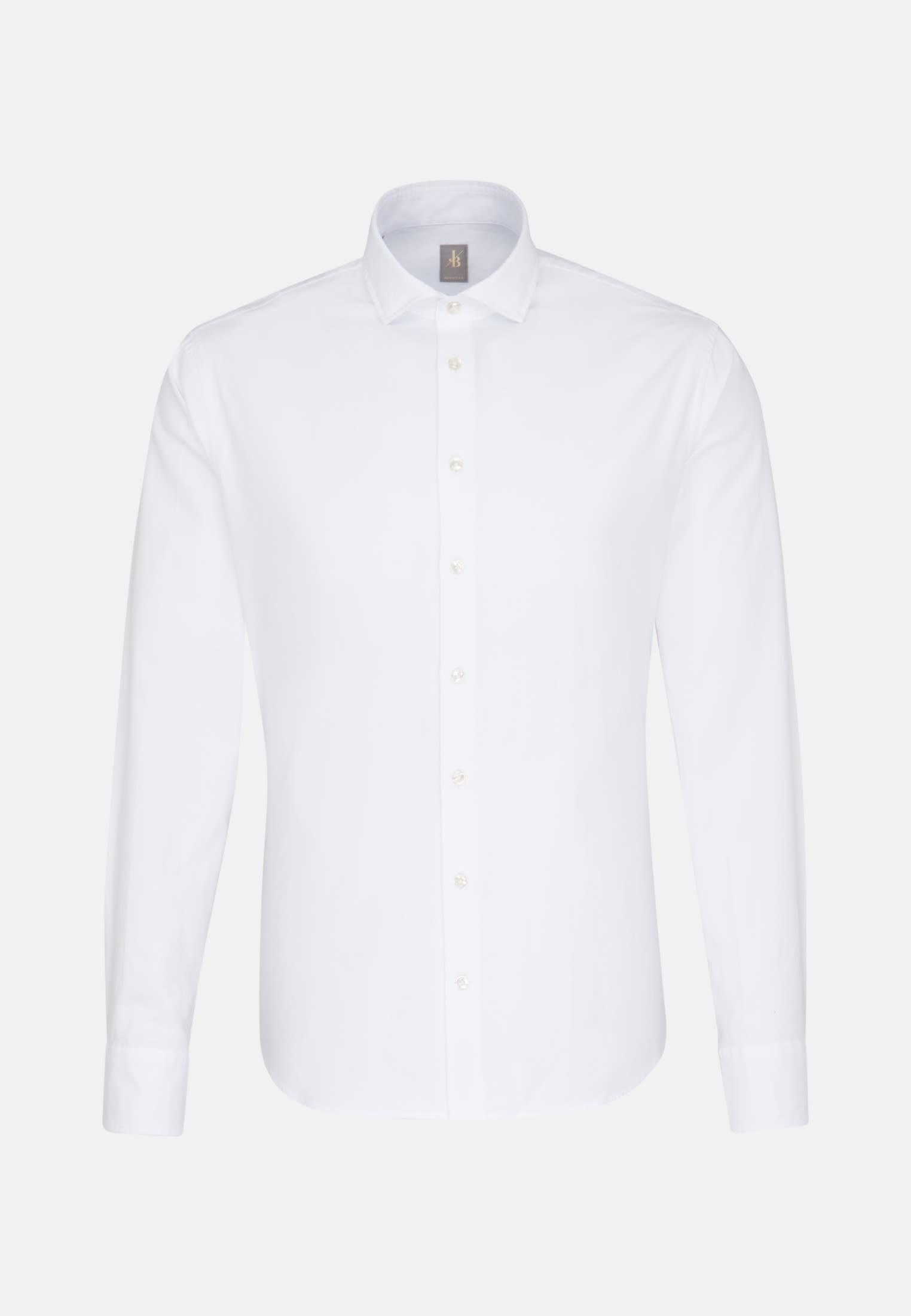 Oxford Smart Casual Hemd in Perfect Fit mit Haifischkragen in Weiß |  Jacques Britt Onlineshop