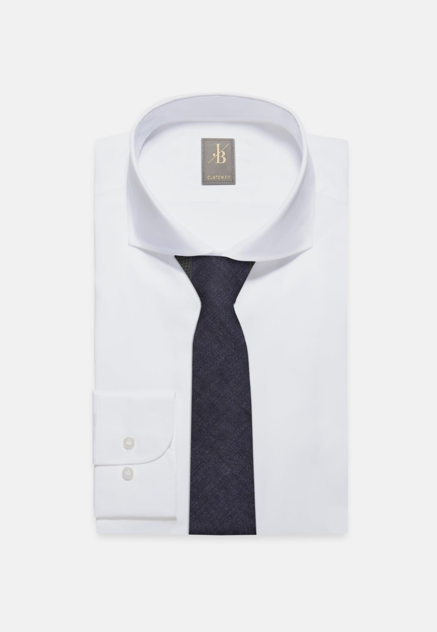 Krawatte aus 100% Leinen 7 cm Breit in Dunkelblau |  Jacques Britt Onlineshop