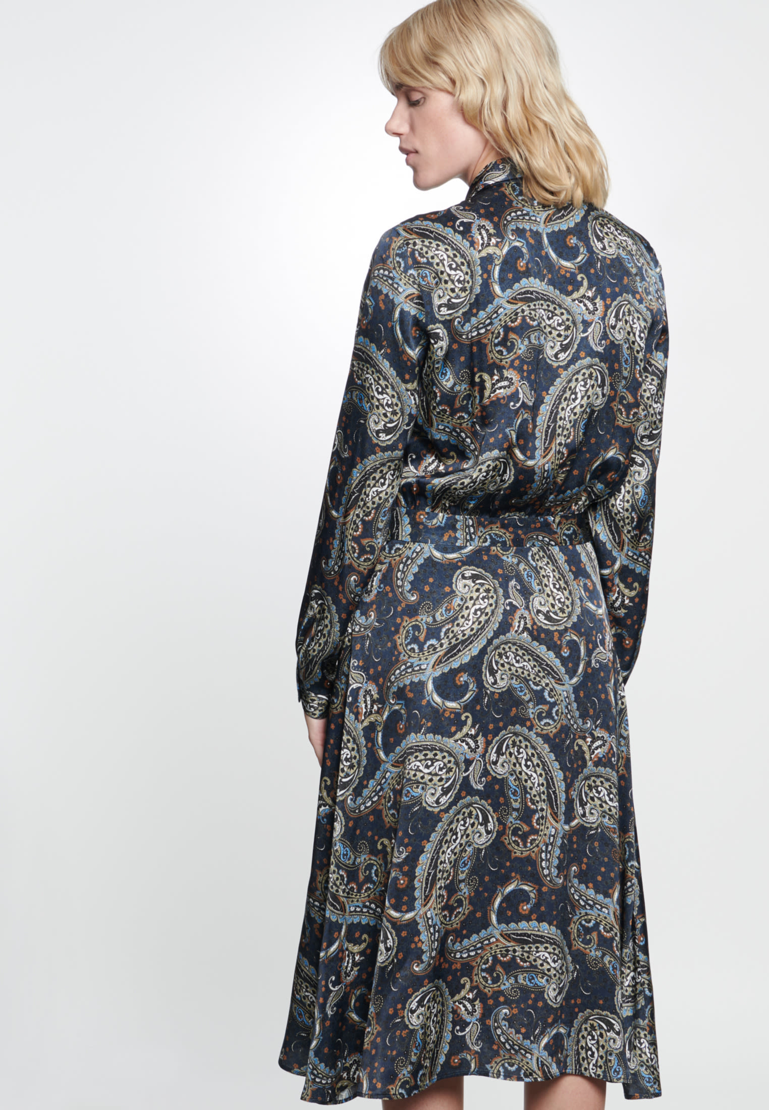 Voile Maxi Dress made of 100% Viscose in Dark blue |  Seidensticker Onlineshop