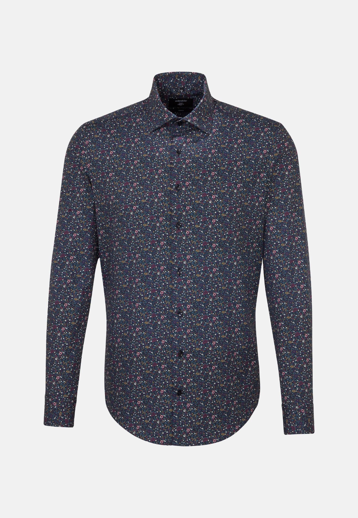 Easy-iron Poplin Business Shirt in Shaped with Kent-Collar in Purple |  Seidensticker Onlineshop