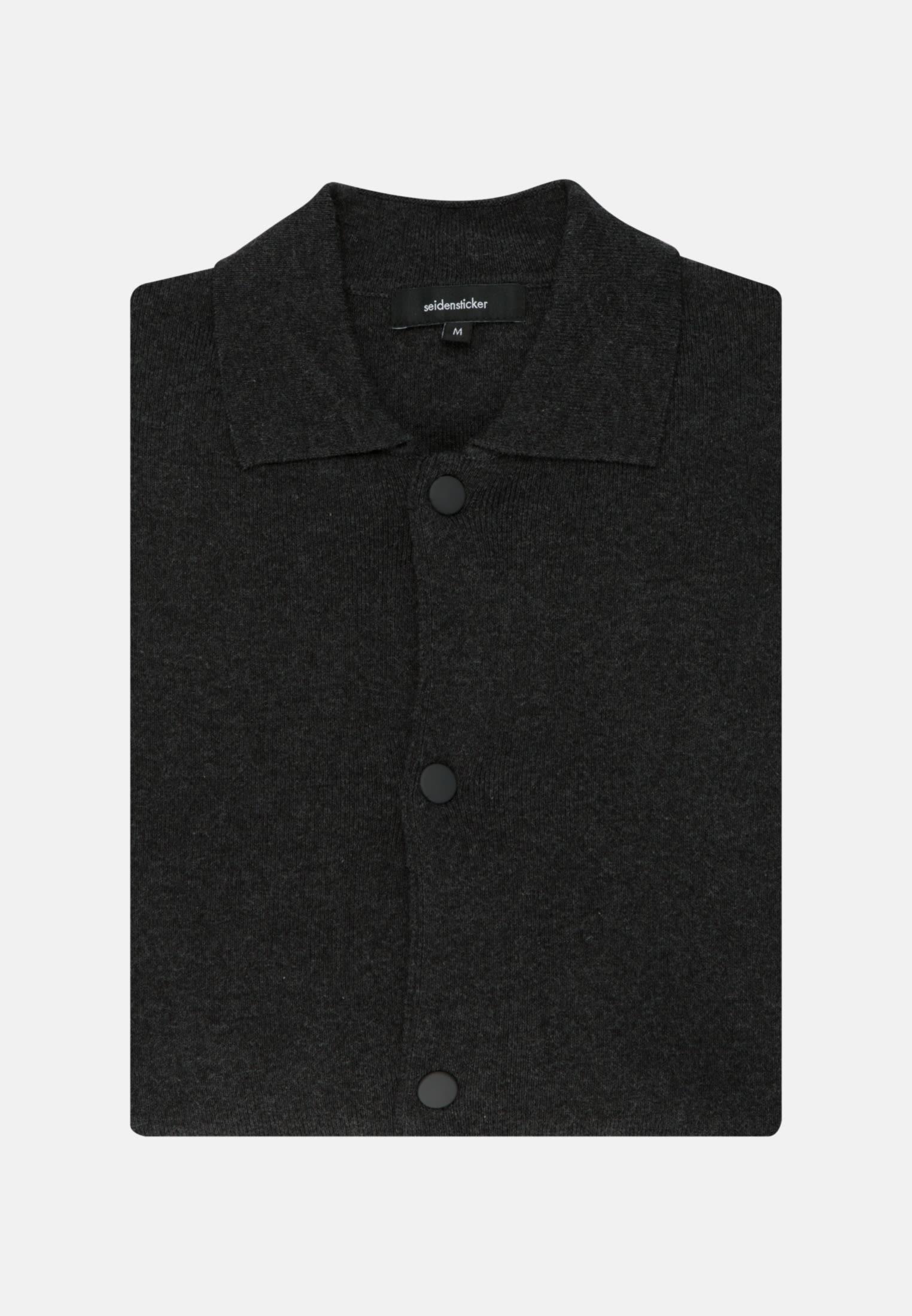 Kragen Cardigan aus Baumwollmischung in Grau |  Seidensticker Onlineshop