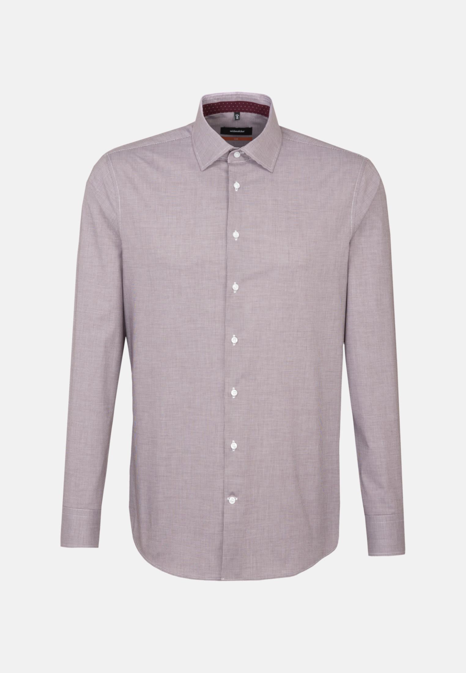 Bügelfreies Pepita Business Hemd in Slim mit Kentkragen in Rot |  Seidensticker Onlineshop