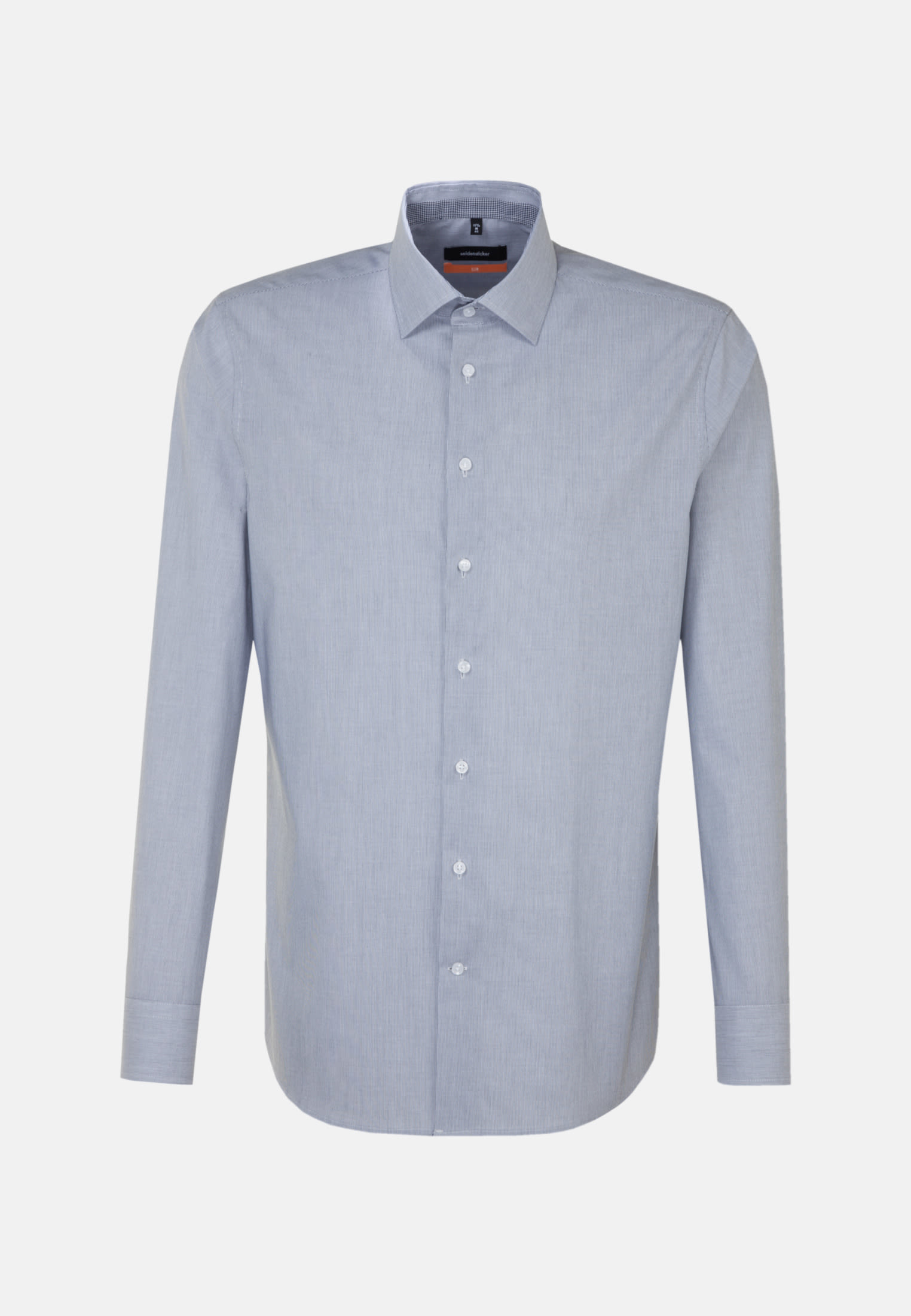 Non-iron Poplin Business Shirt in Slim with Kent-Collar and extra long arm in dunkelblau    Seidensticker Onlineshop