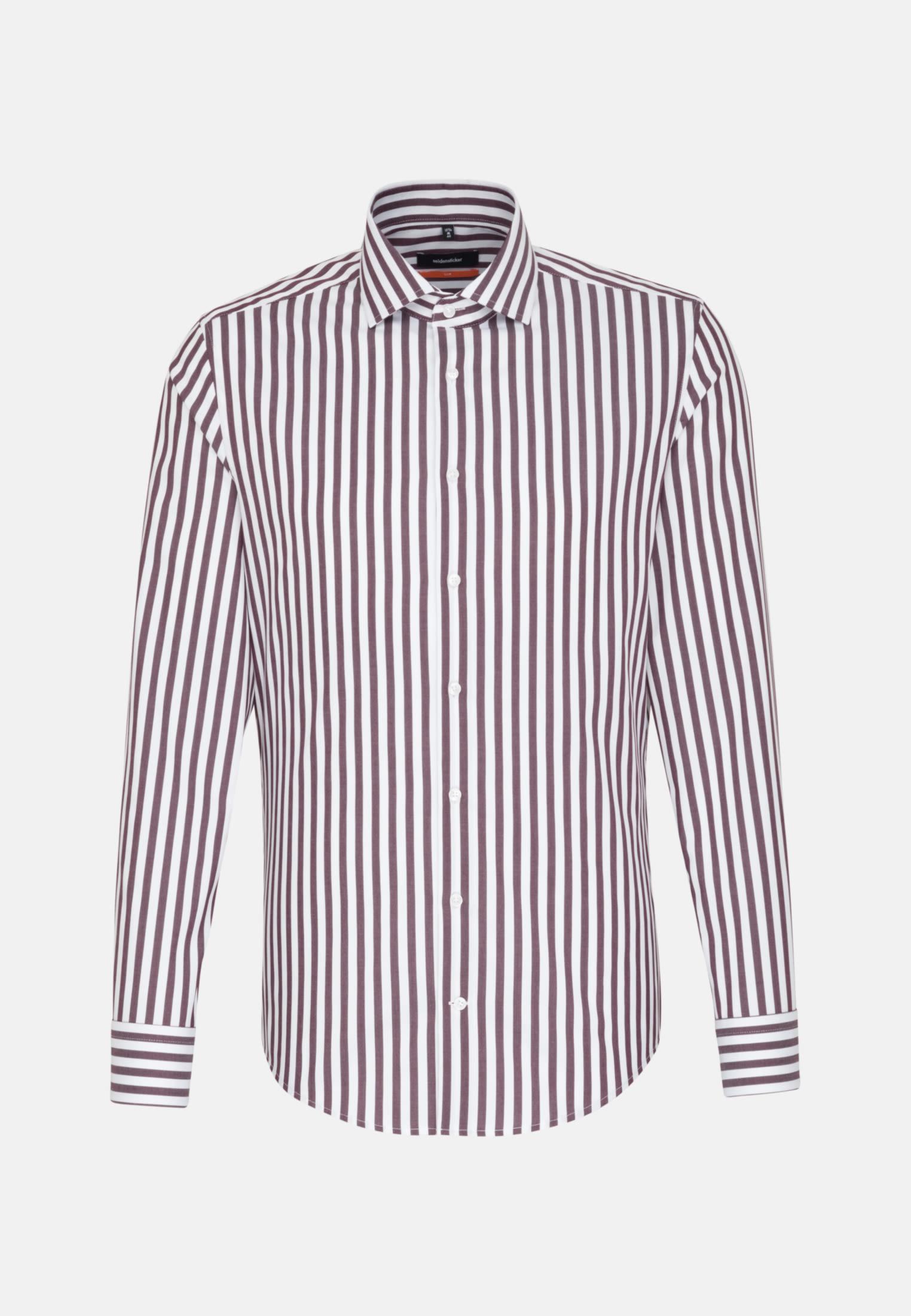 Non-iron Twill Business Shirt in Slim with Kent-Collar in rot    Seidensticker Onlineshop