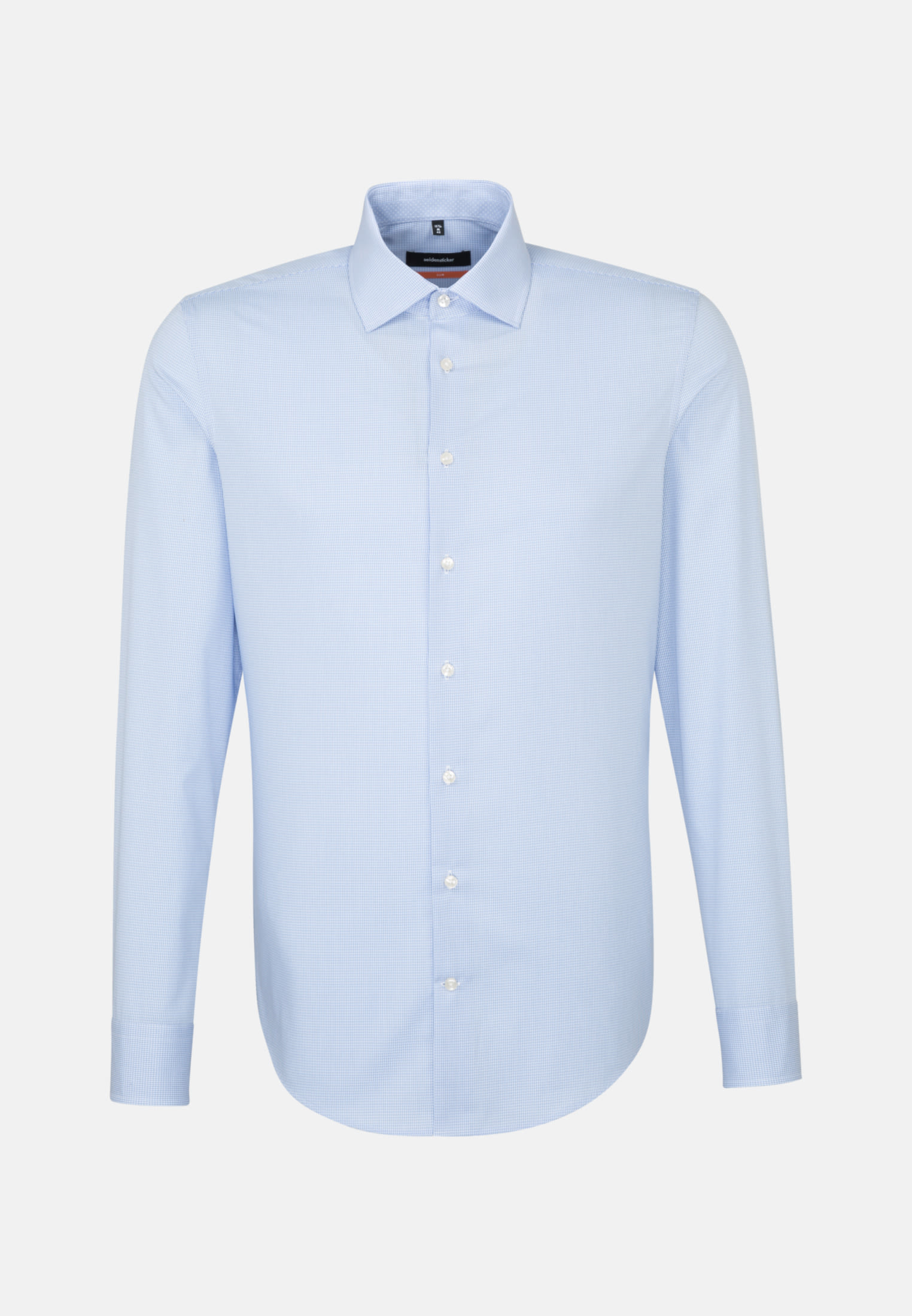 Non-iron Poplin Business Shirt in Slim with Kent-Collar in hellblau |  Seidensticker Onlineshop