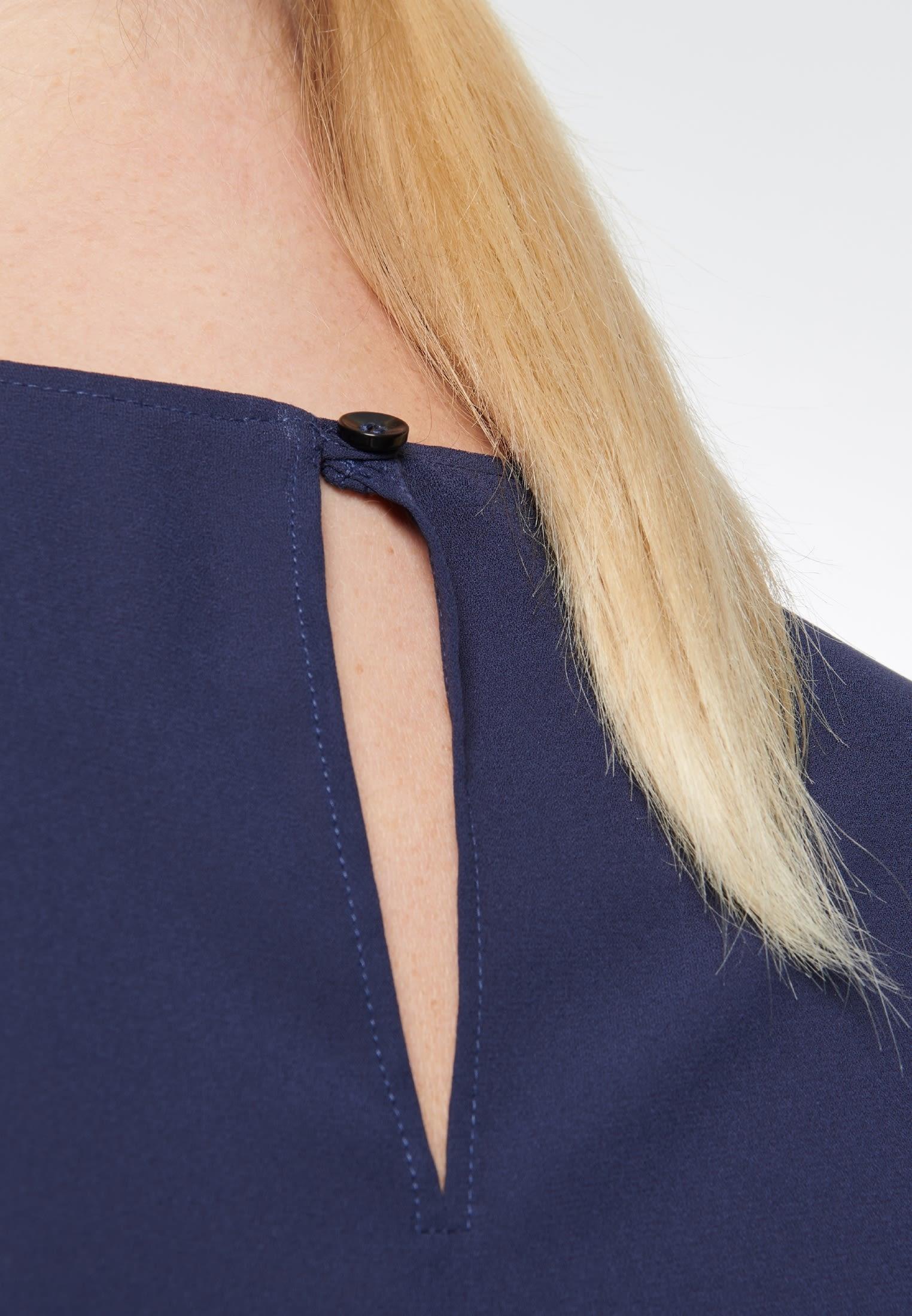 Crepe Shirt Blouse made of 100% Polyester in Dark blue |  Seidensticker Onlineshop