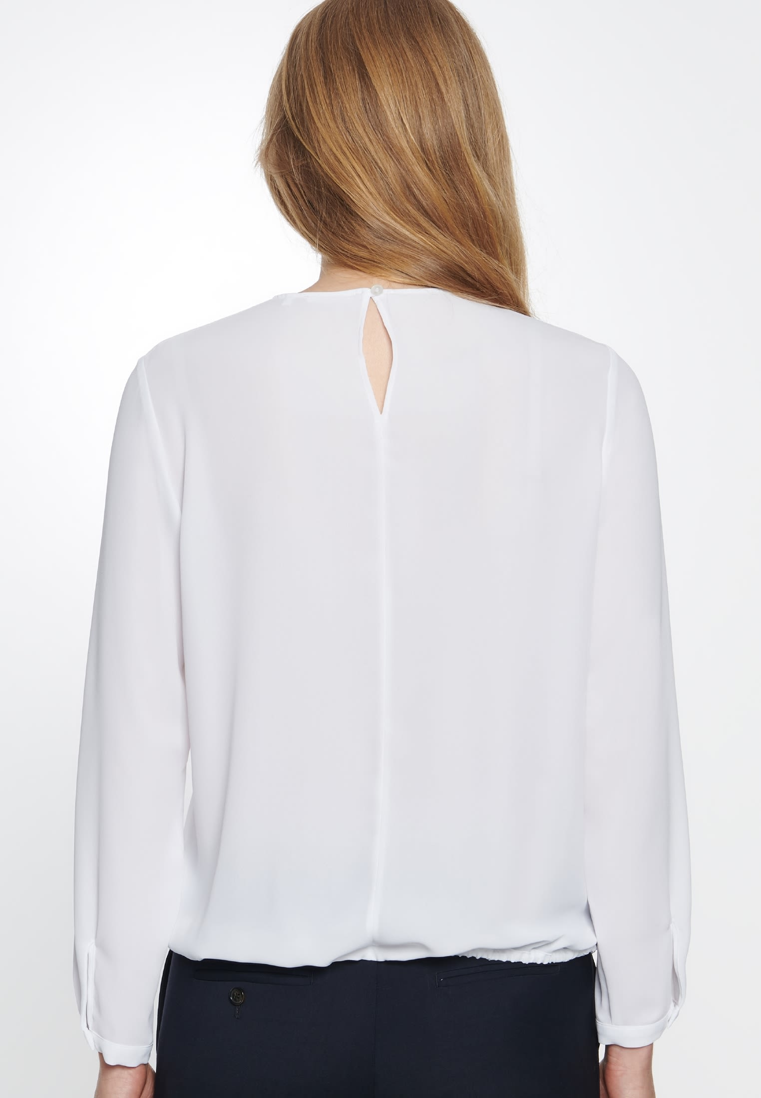 Crepe Shirt Blouse made of 100% Polyester in White |  Seidensticker Onlineshop