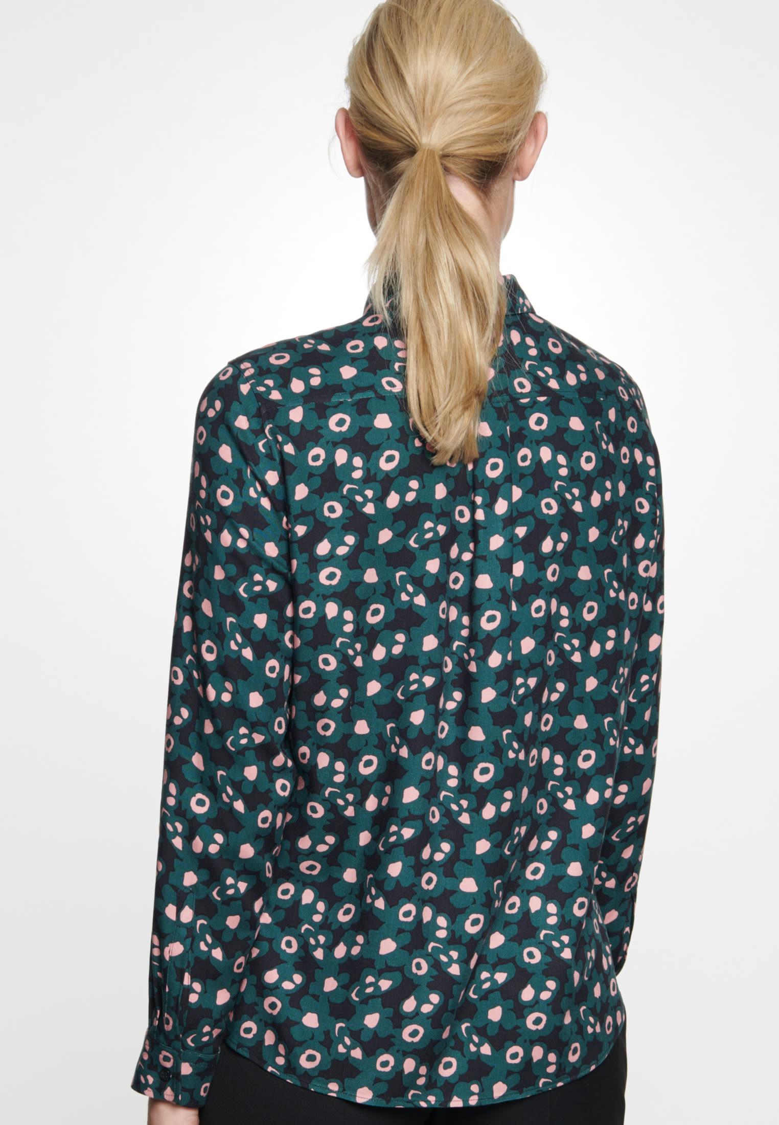 Twill Hemdbluse aus 100% Viskose in Grün |  Seidensticker Onlineshop
