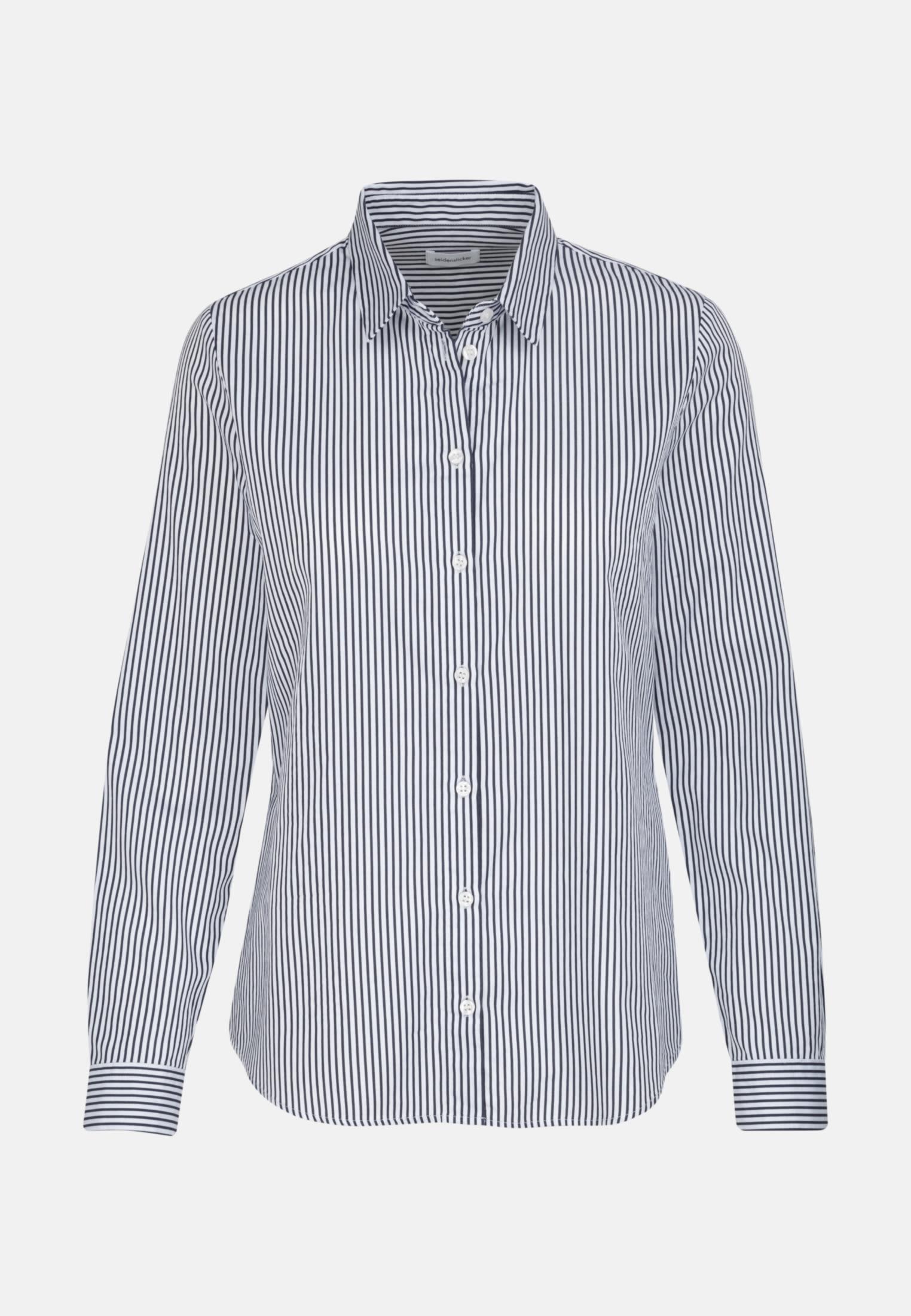 Satin Shirt Blouse made of 100% Cotton in Ecru    Seidensticker Onlineshop