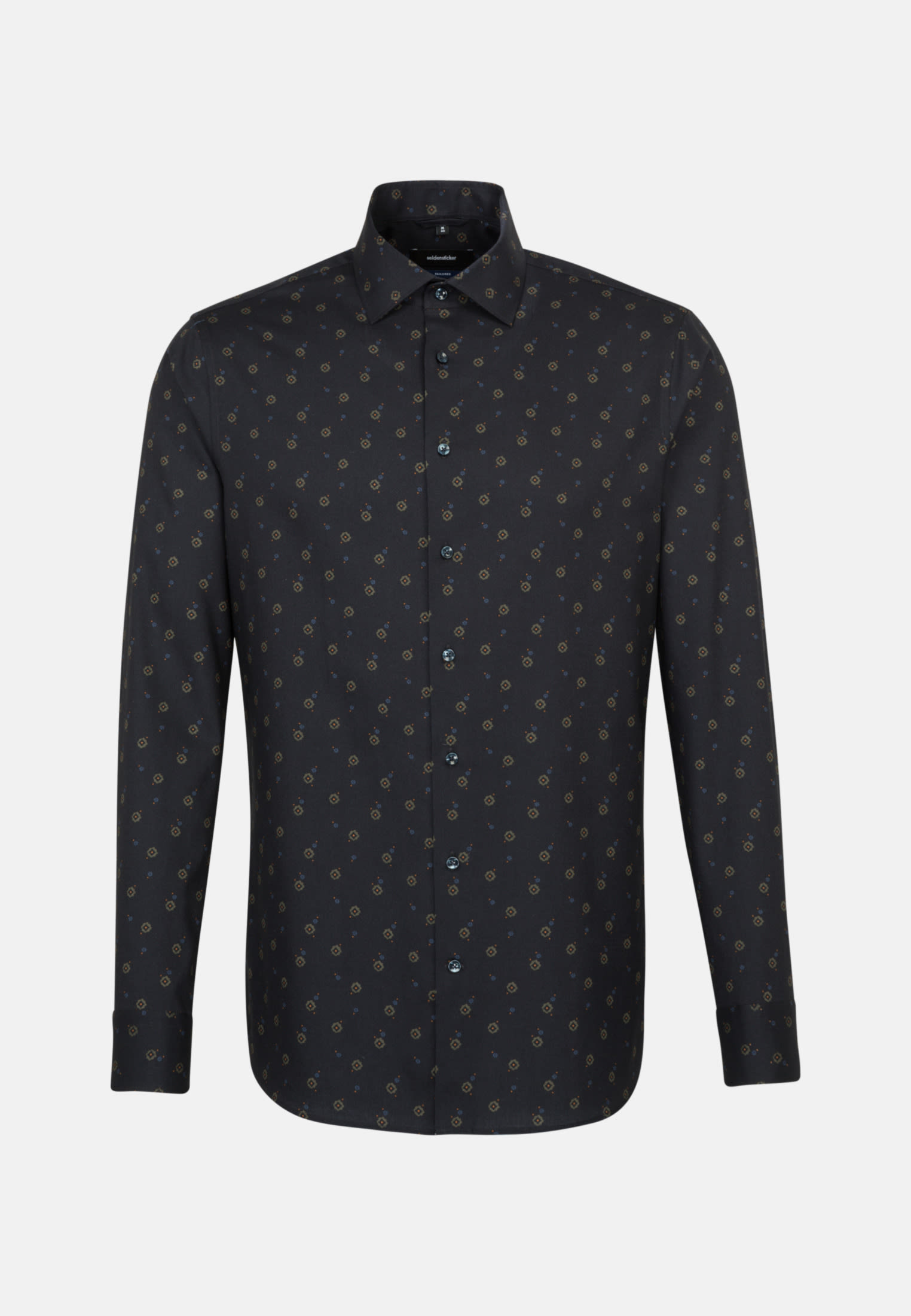 Bügelleichtes Twill Business Hemd in Shaped mit Kentkragen in Grau |  Seidensticker Onlineshop