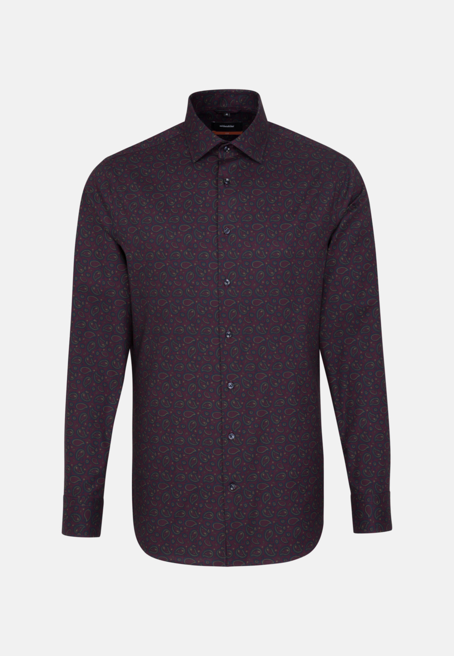 Bügelleichtes Twill Business Hemd in Slim mit Kentkragen in bordeaux |  Seidensticker Onlineshop