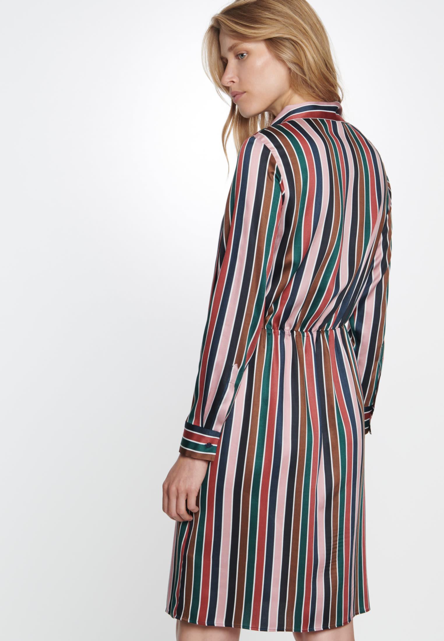 Satin Kleid aus 100% Viskose in Dunkelblau |  Seidensticker Onlineshop