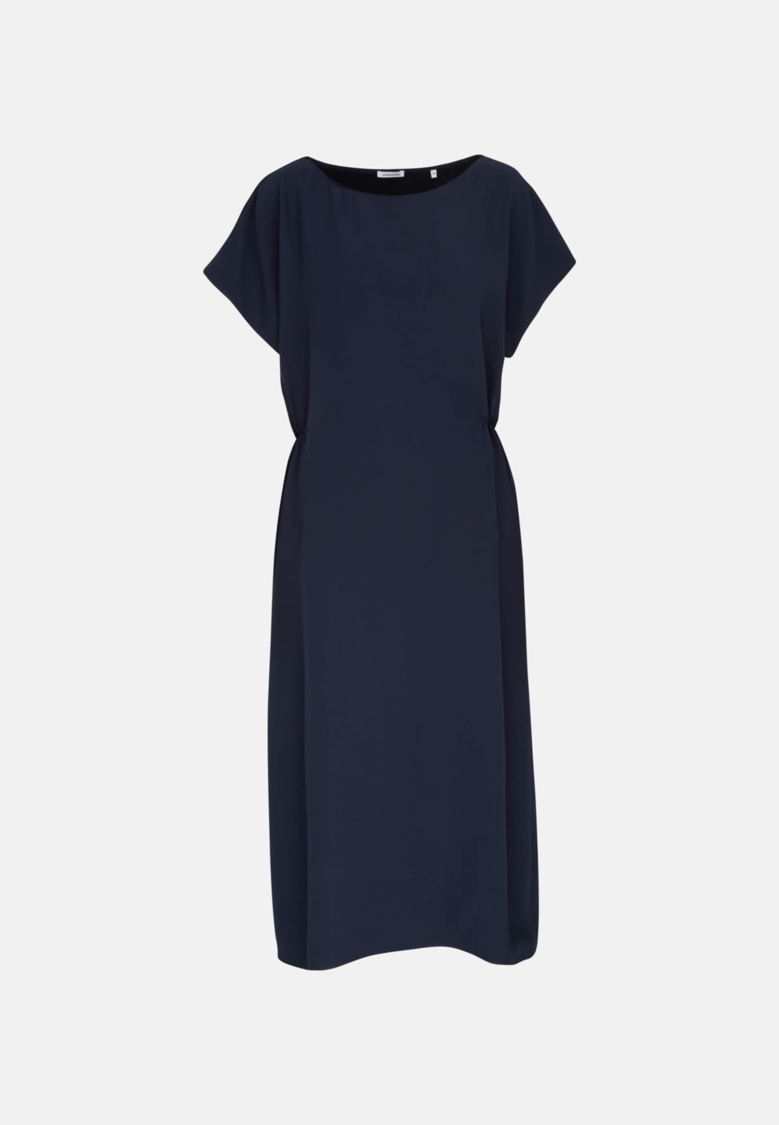 Sleeveless Crepe Maxi Dress made of rayon blend in Dark blue |  Seidensticker Onlineshop