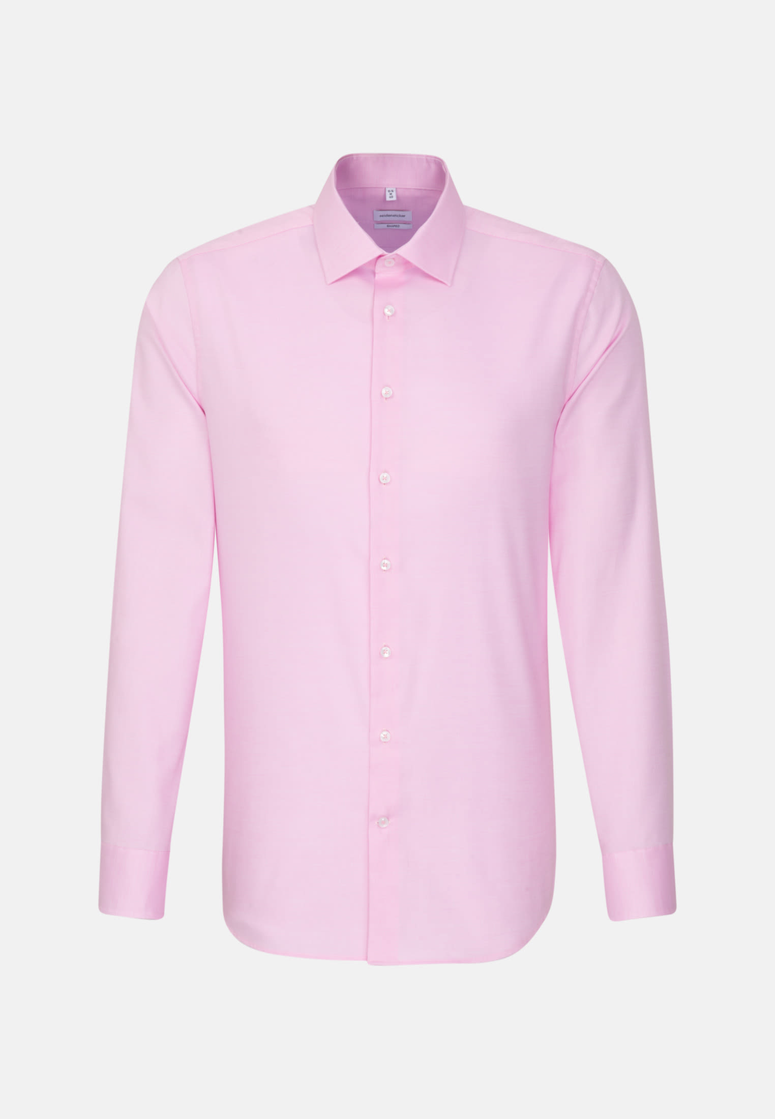 Bügelfreies Struktur Business Hemd in Shaped mit Kentkragen in Rosa/Pink |  Seidensticker Onlineshop