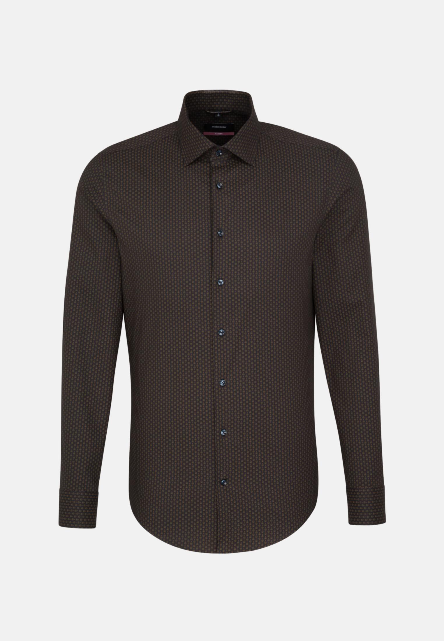 Bügelleichtes Twill Business Hemd in Modern mit Kentkragen in anthra    Seidensticker Onlineshop