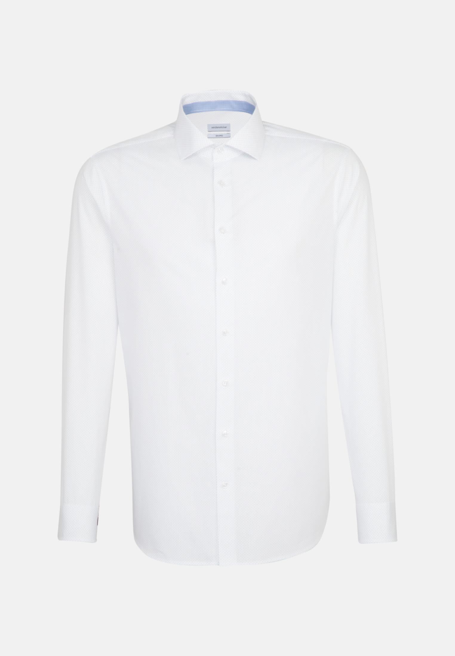 Easy-iron Poplin Business Shirt in Shaped with Kent-Collar in White |  Seidensticker Onlineshop