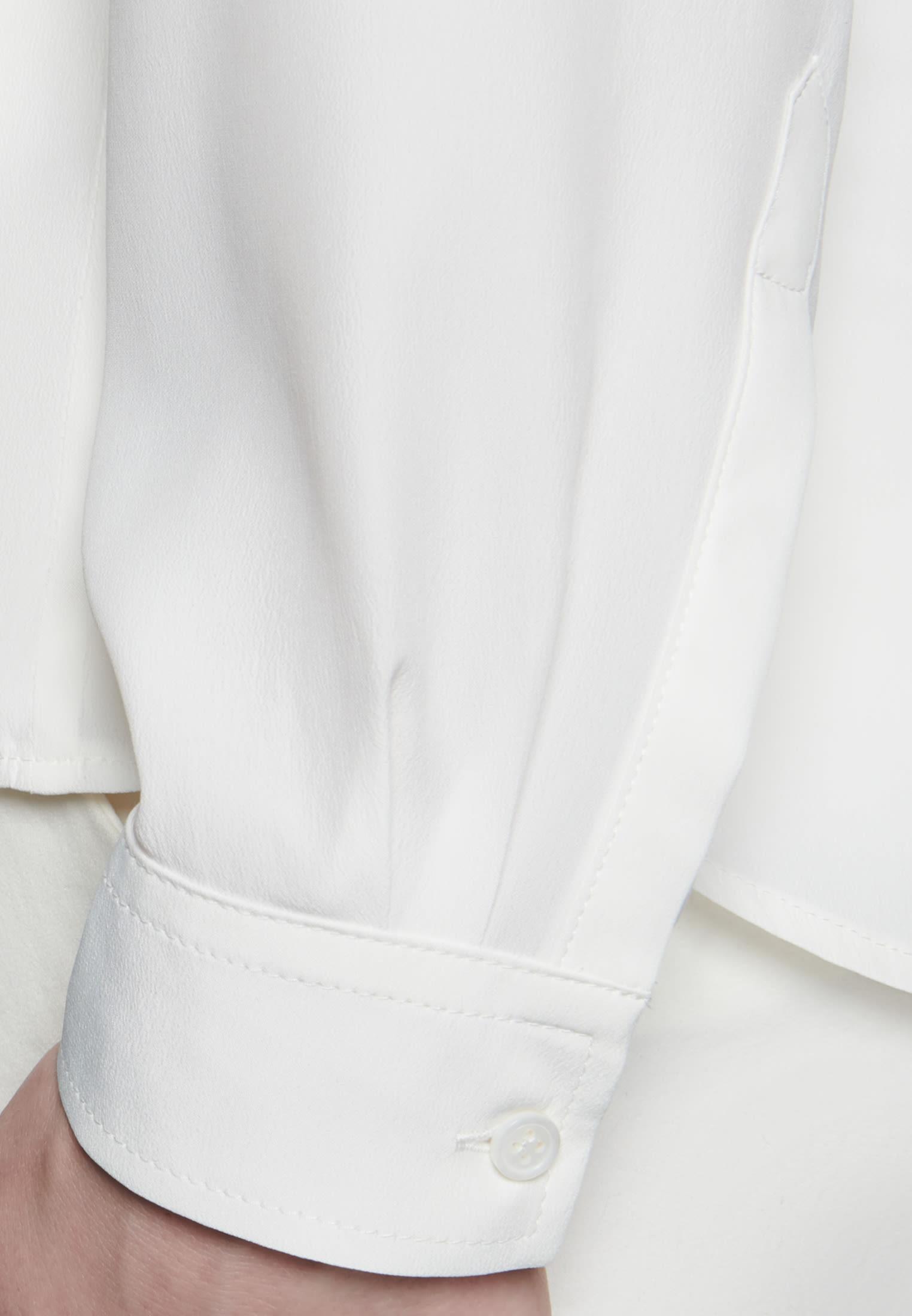Krepp Hemdbluse aus Seidenmischung in Ecru |  Seidensticker Onlineshop