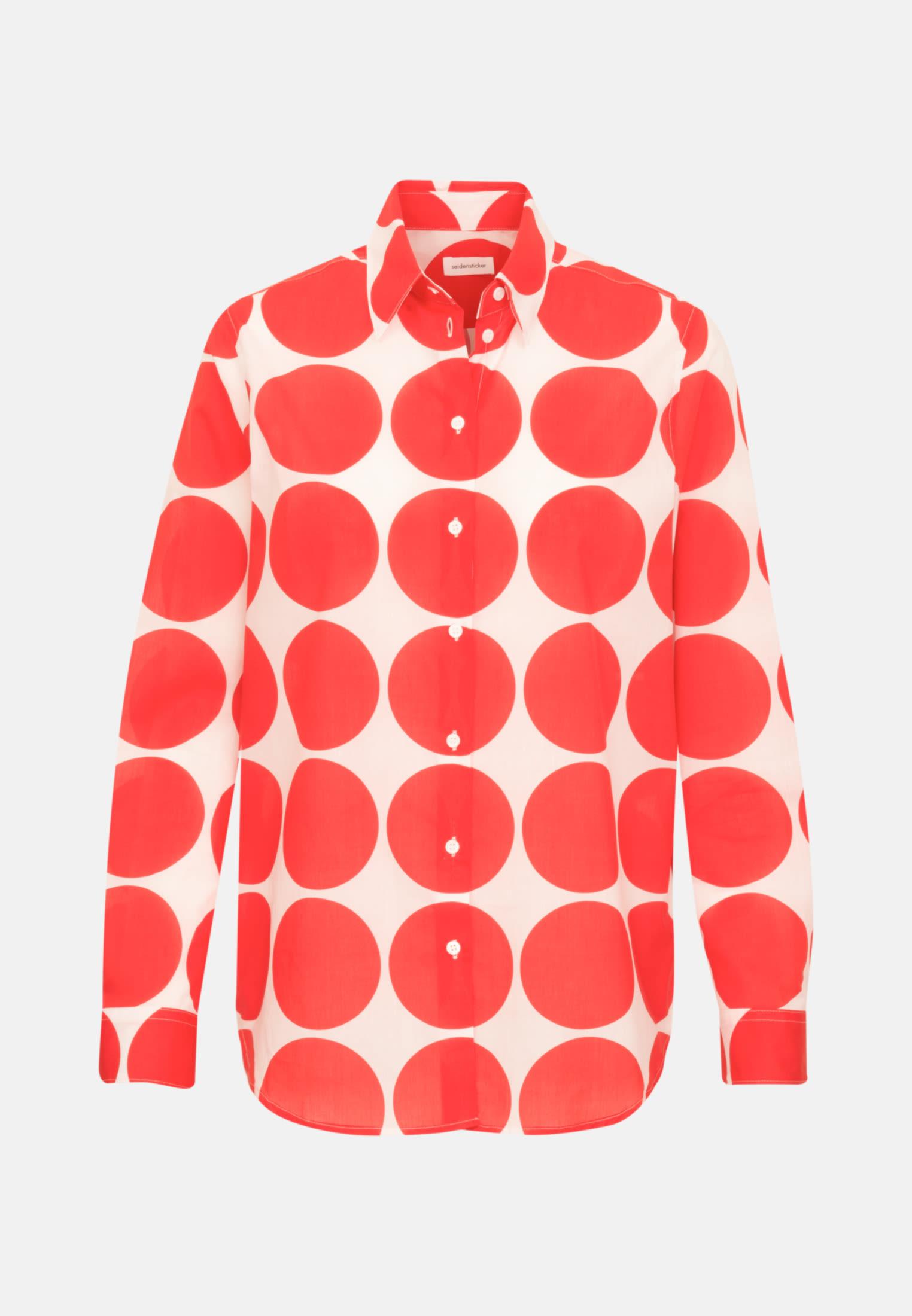 Voile Hemdbluse aus 100% Baumwolle in Rot |  Seidensticker Onlineshop