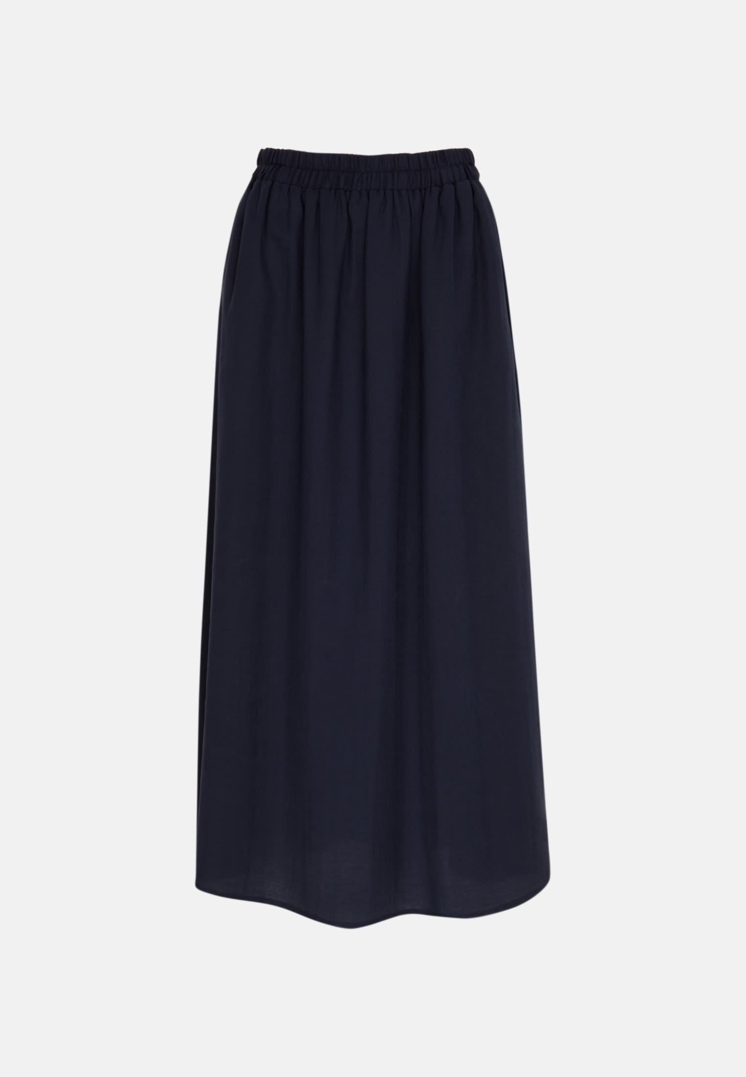 Twill Maxi Skirt made of 85% Lyocell 15% Polyethylen in Dark blue |  Seidensticker Onlineshop