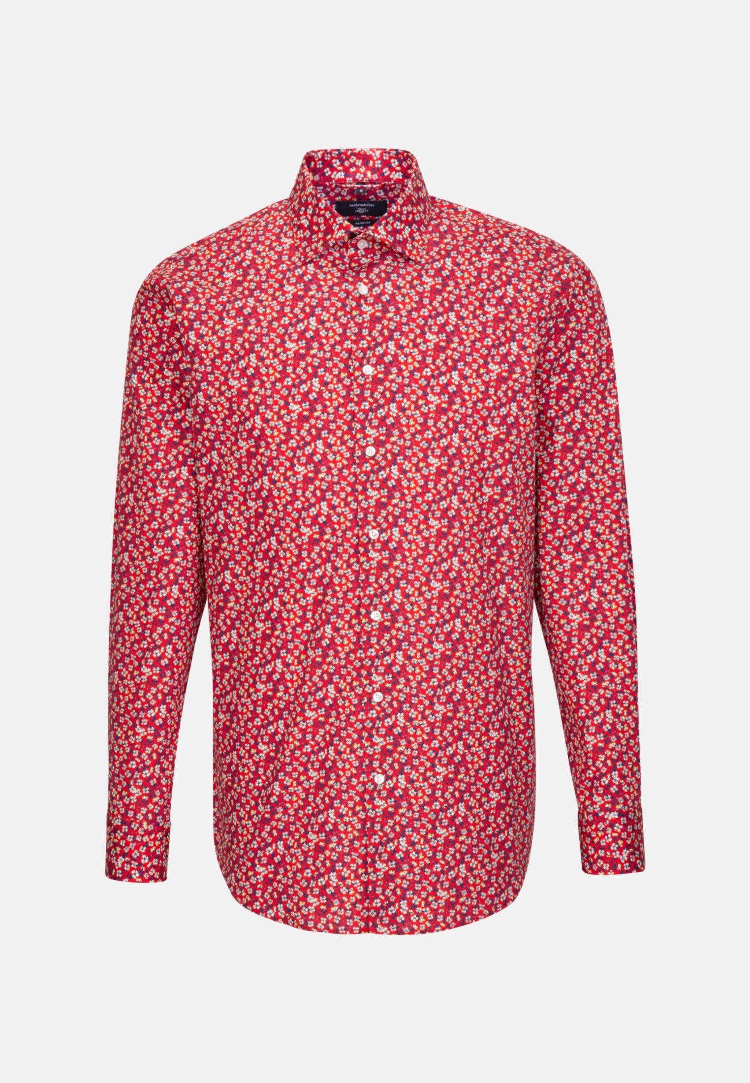Easy-iron Poplin Business Shirt in Regular with Kent-Collar in Red    Seidensticker Onlineshop