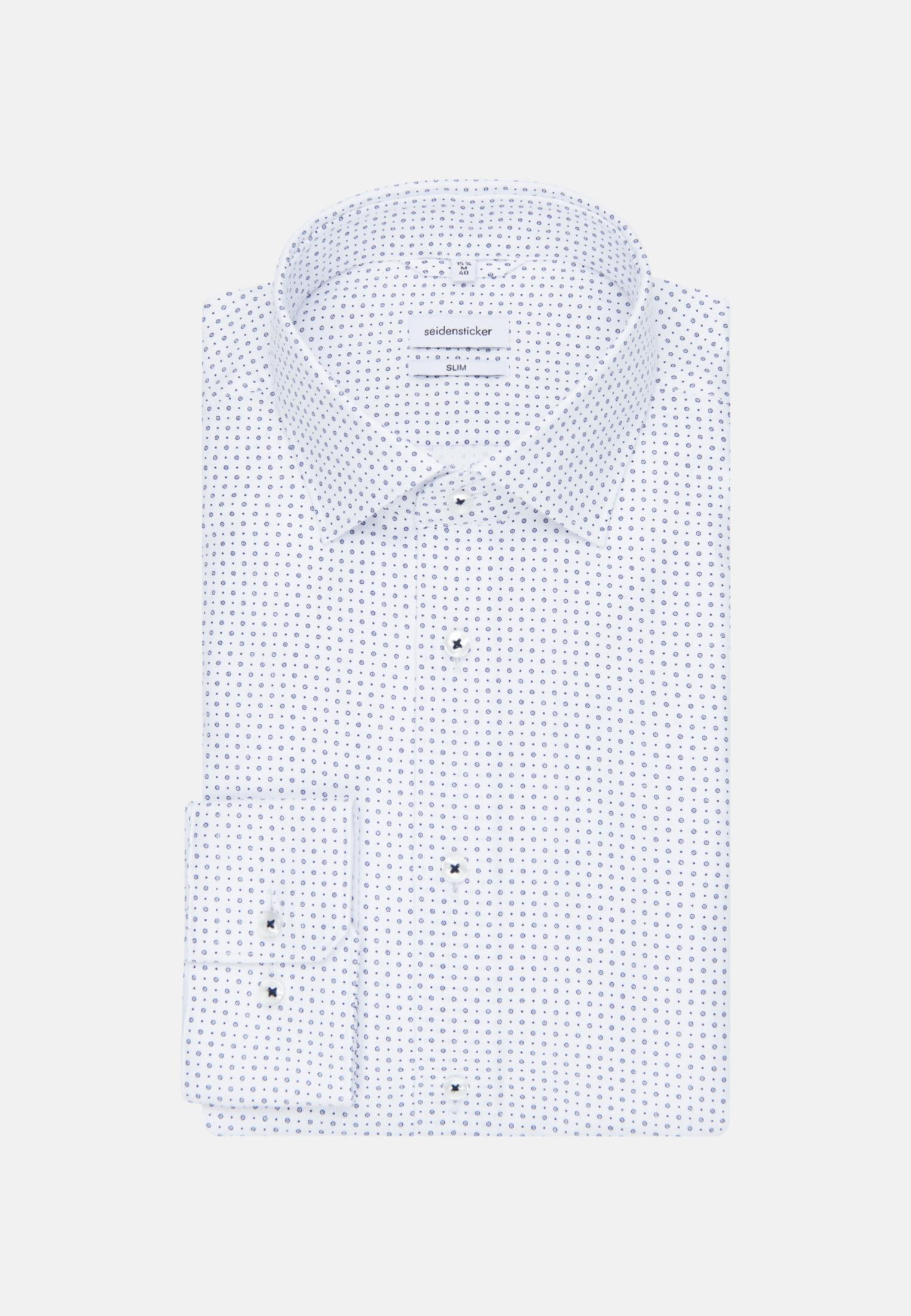 Easy-iron Structure Business Shirt in Slim with Kent-Collar in Medium blue    Seidensticker Onlineshop
