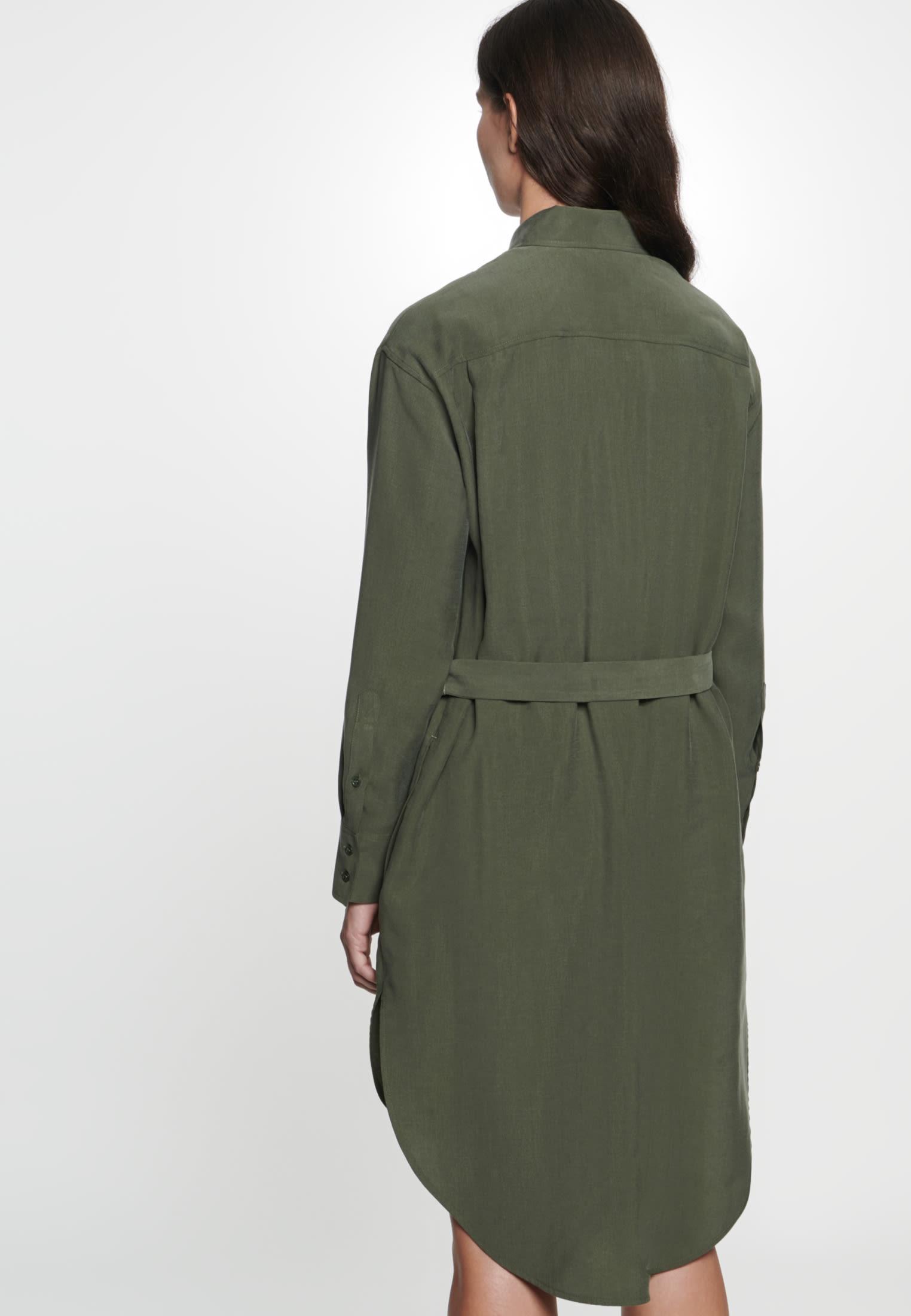 Twill Midi Kleid aus Tencelmischung in Grün |  Seidensticker Onlineshop