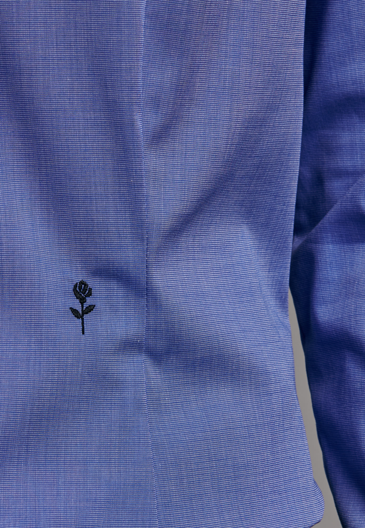 Bügelfreie Fil a fil Hemdbluse aus 100% Baumwolle in Mittelblau |  Seidensticker Onlineshop