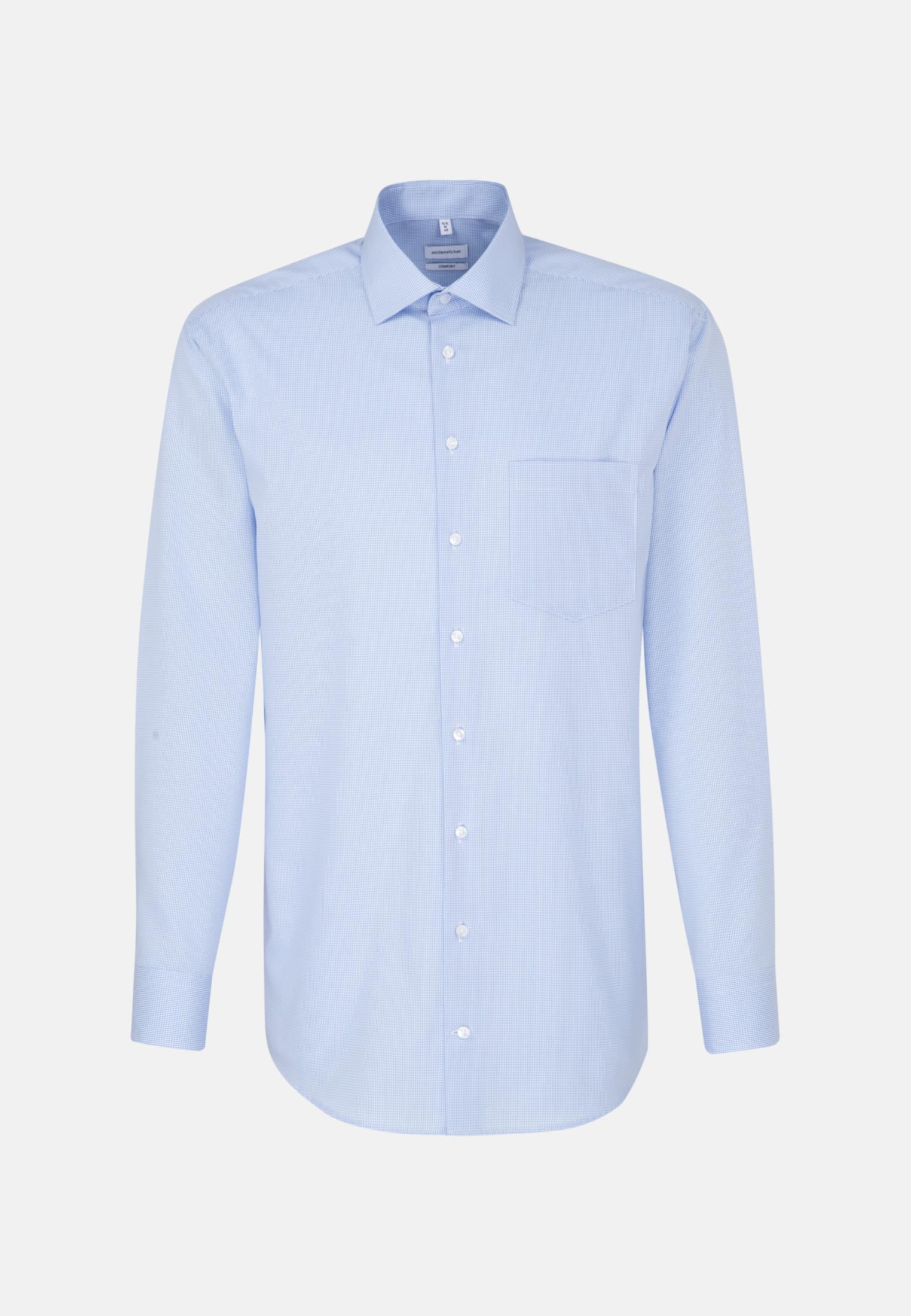 Bügelfreies Popeline Business Hemd in Comfort mit Kentkragen in Hellblau |  Seidensticker Onlineshop