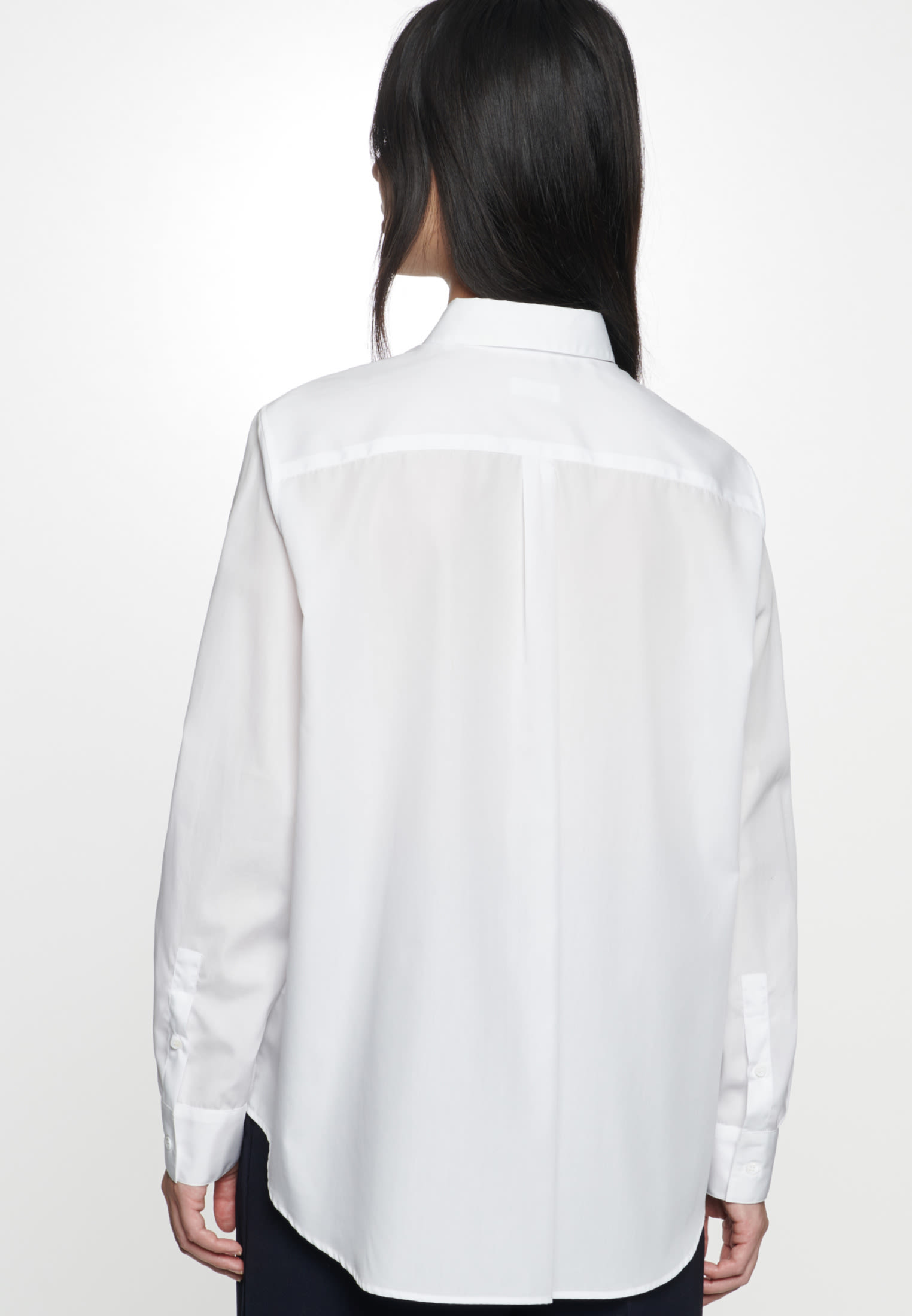 Poplin Shirt Blouse made of 100% Cotton in White |  Seidensticker Onlineshop