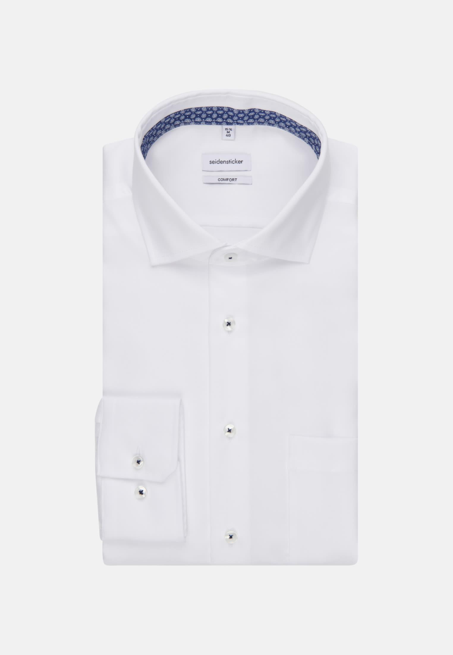 Bügelfreies Twill Business Hemd in Comfort mit Kentkragen in Weiß |  Seidensticker Onlineshop
