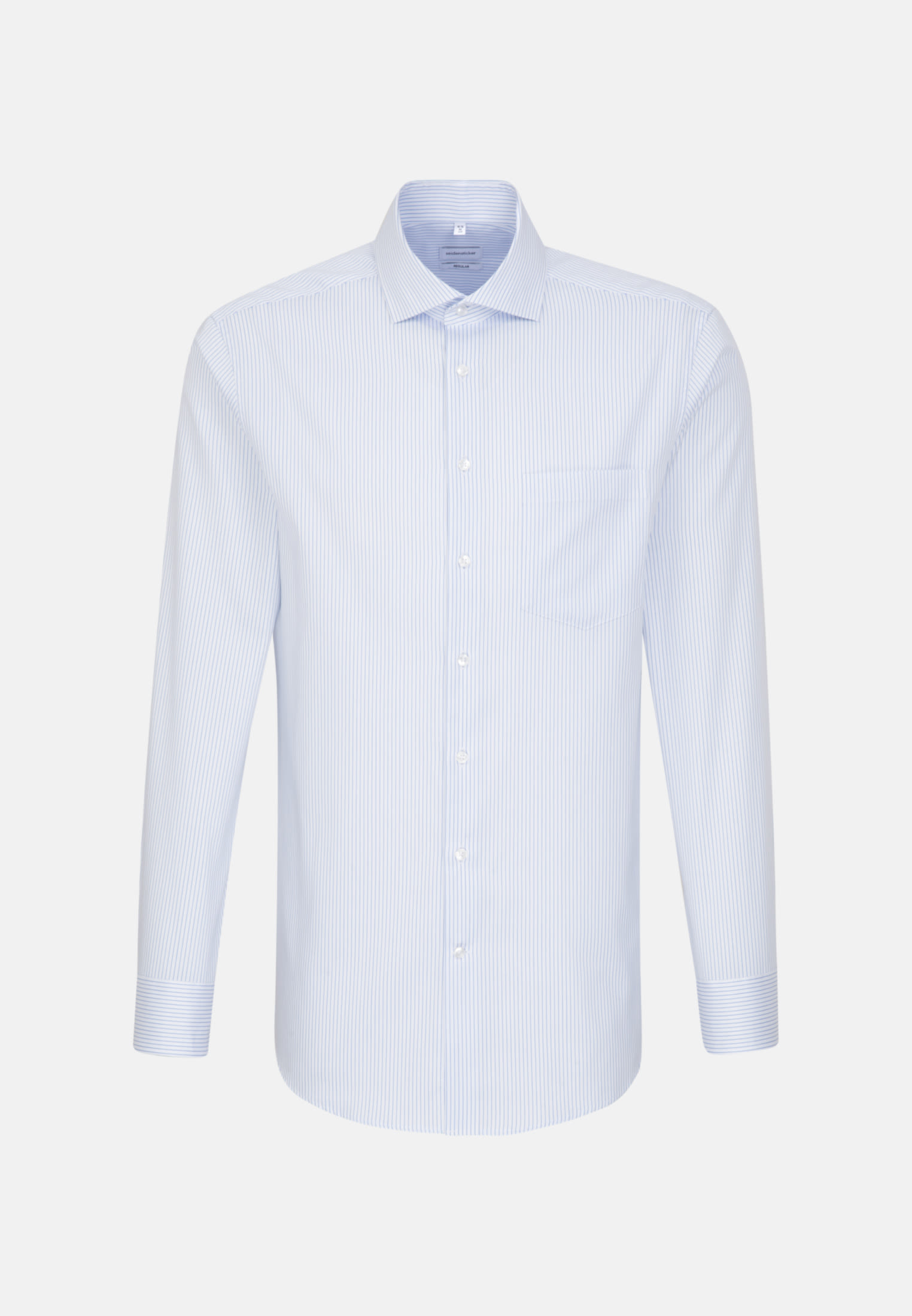 Easy-iron Structure Business Shirt in Regular with Kent-Collar in Light blue |  Seidensticker Onlineshop
