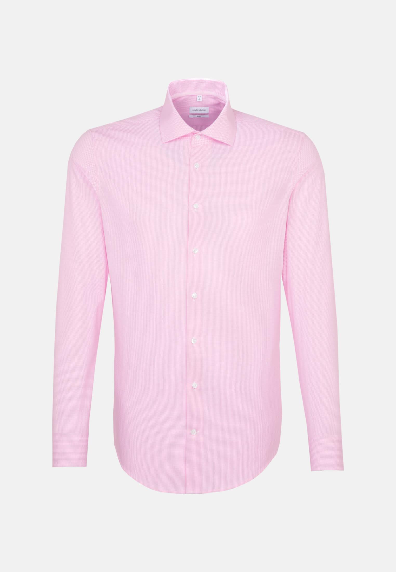 Bügelfreies Popeline Business Hemd in Slim mit Kentkragen in Rosa/Pink |  Seidensticker Onlineshop