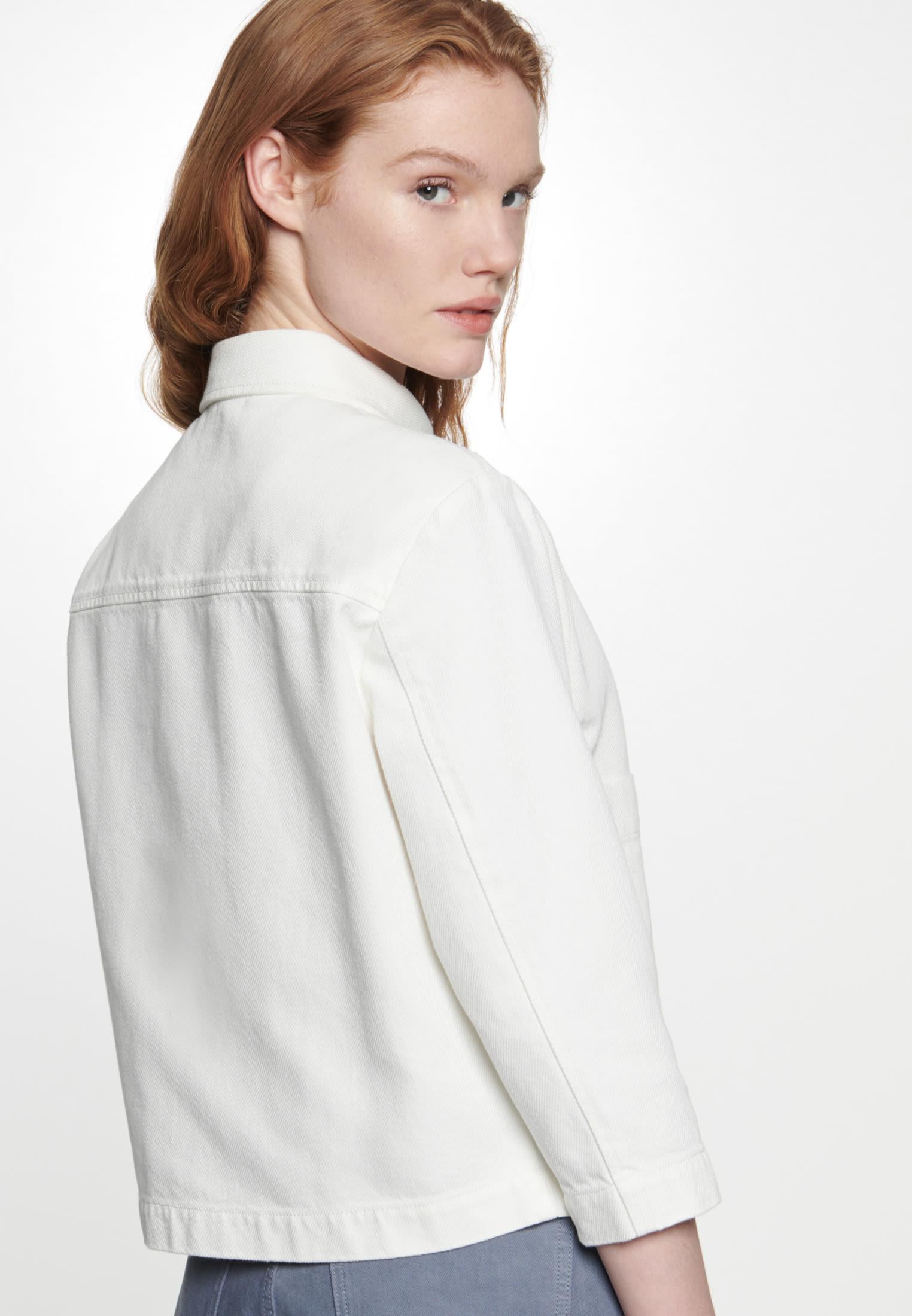 Twill Jacke aus 100% Baumwolle in Ecru |  Seidensticker Onlineshop