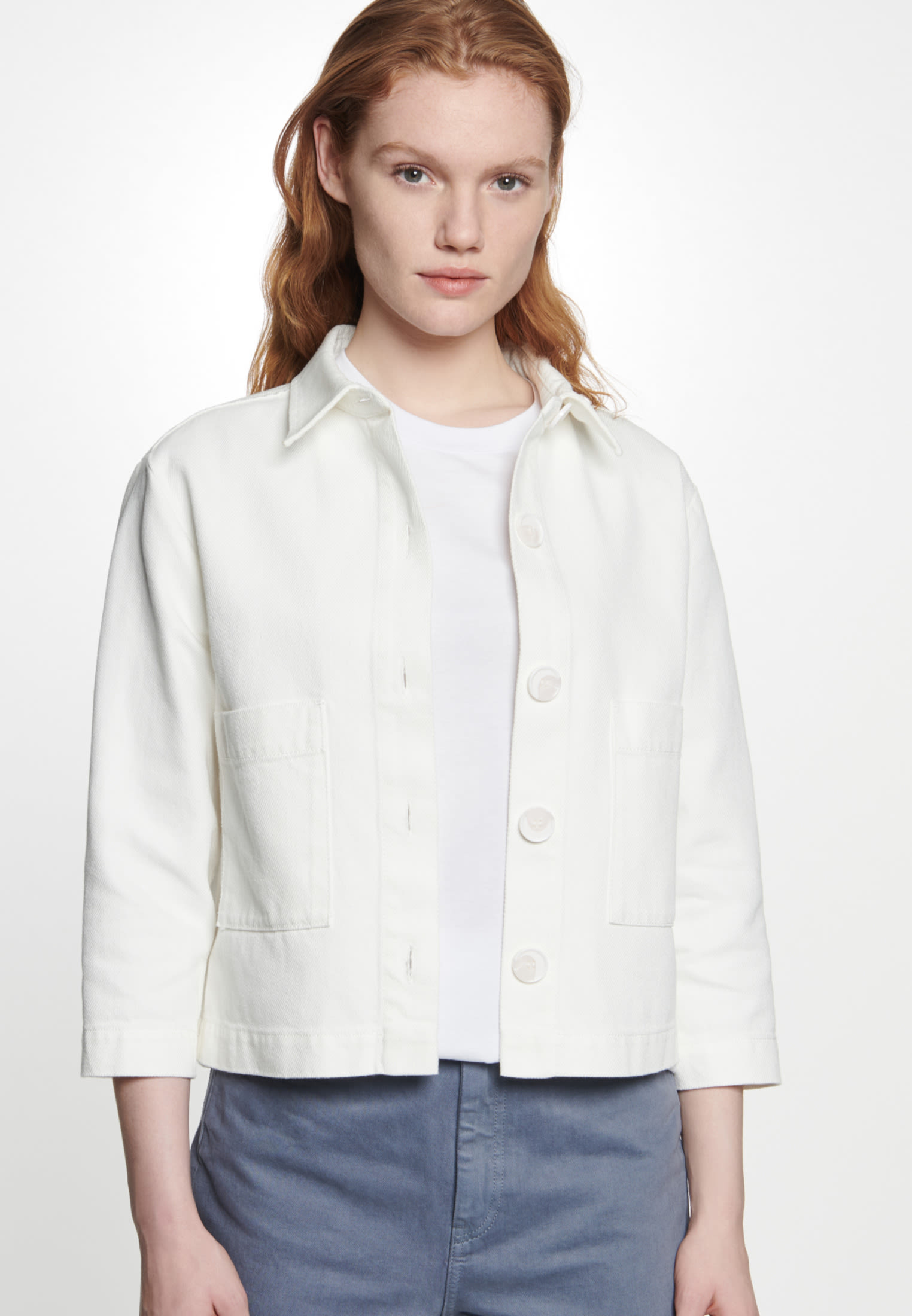 Twill Jacket made of 100% Cotton in Ecru |  Seidensticker Onlineshop