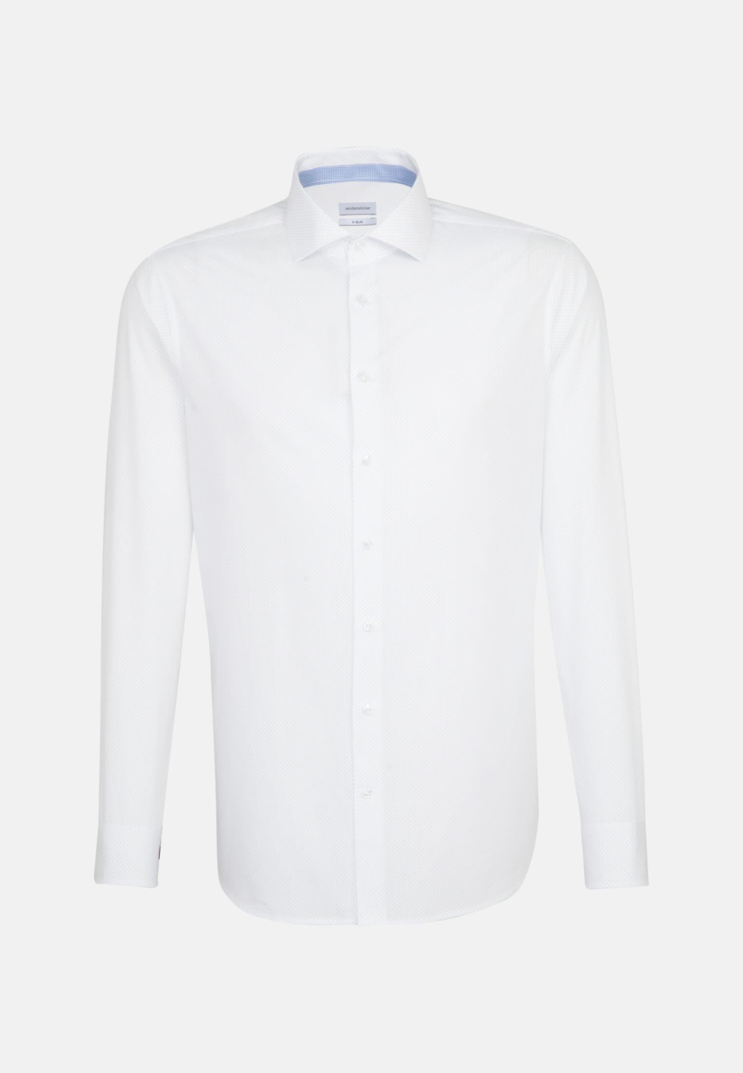 Bügelleichtes Popeline Business Hemd in X-Slim mit Kentkragen in Weiß |  Seidensticker Onlineshop