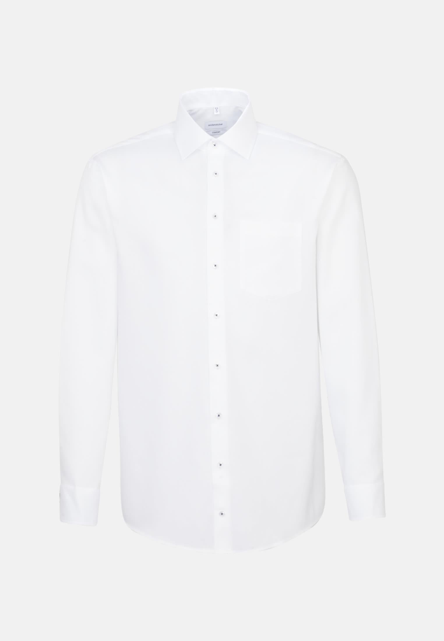 Bügelfreies Struktur Business Hemd in Comfort mit Kentkragen in Weiß |  Seidensticker Onlineshop