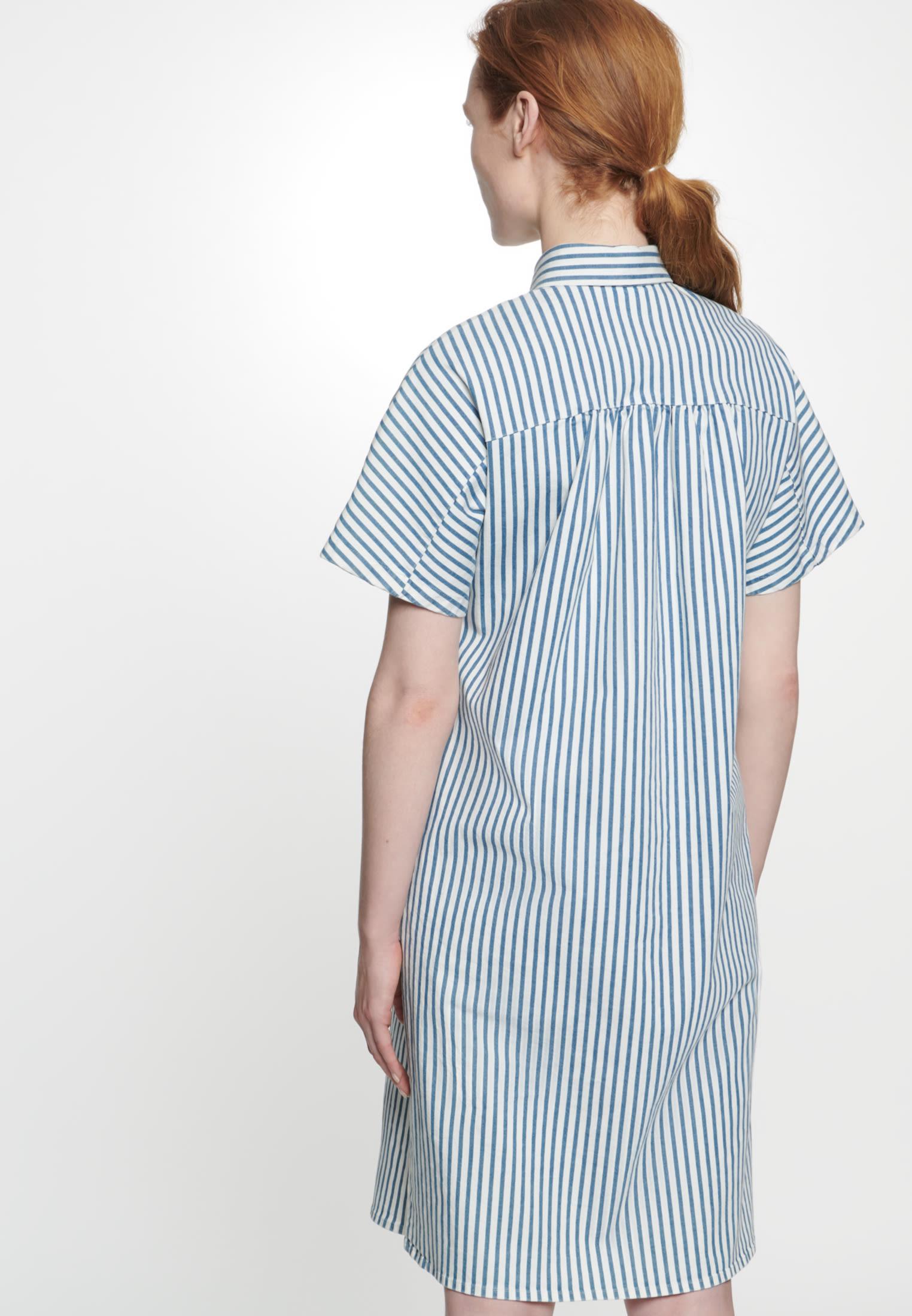 Twill Midi Dress made of cotton blend in Medium blue |  Seidensticker Onlineshop