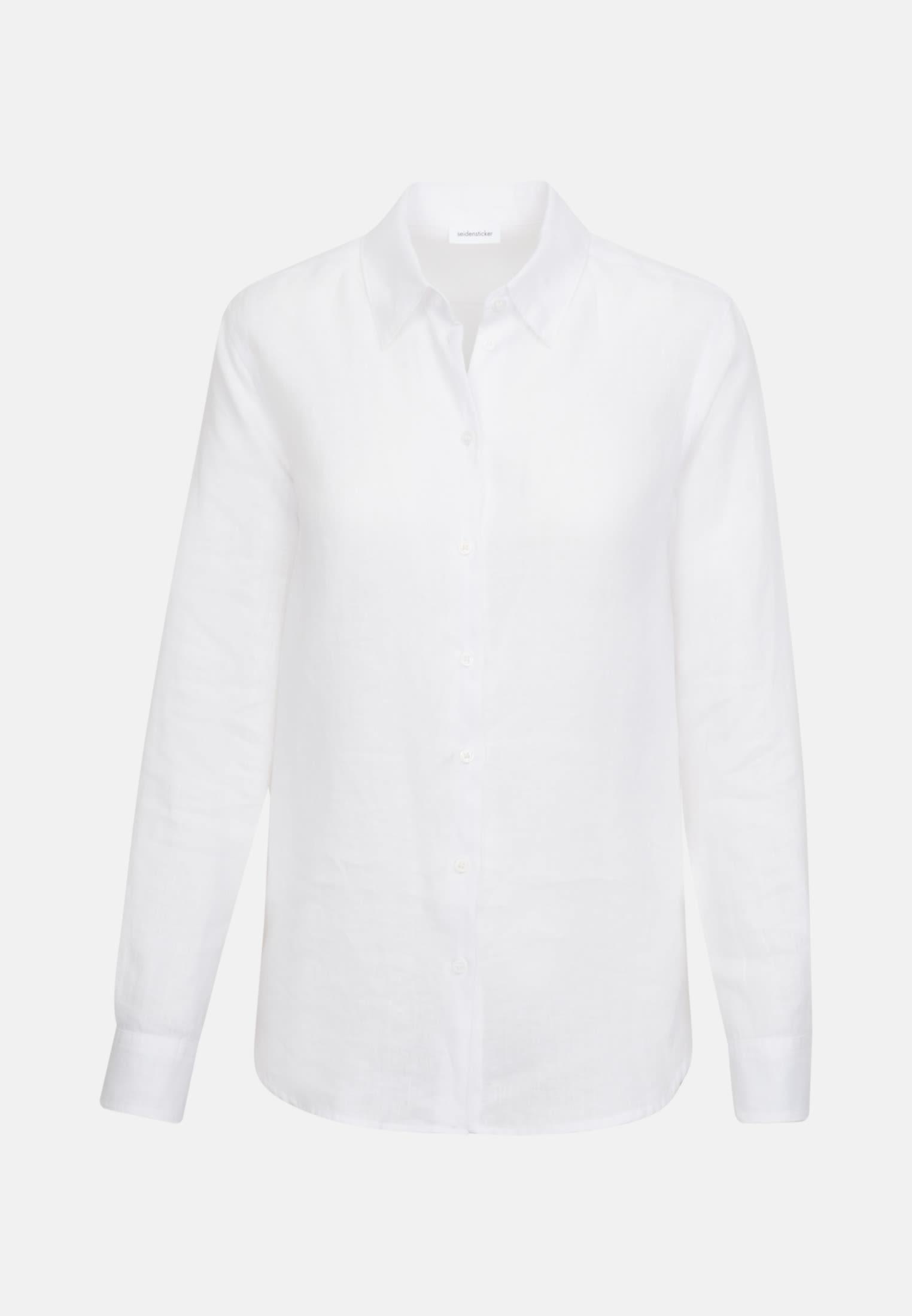 Leinen Hemdbluse aus 100% Leinen in Weiß |  Seidensticker Onlineshop