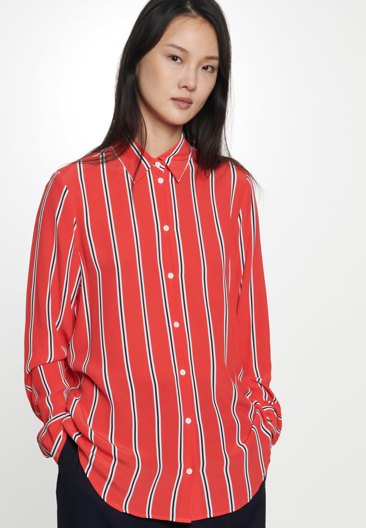 Crepe Shirt Blouse made of 100% Viscose in Red |  Seidensticker Onlineshop