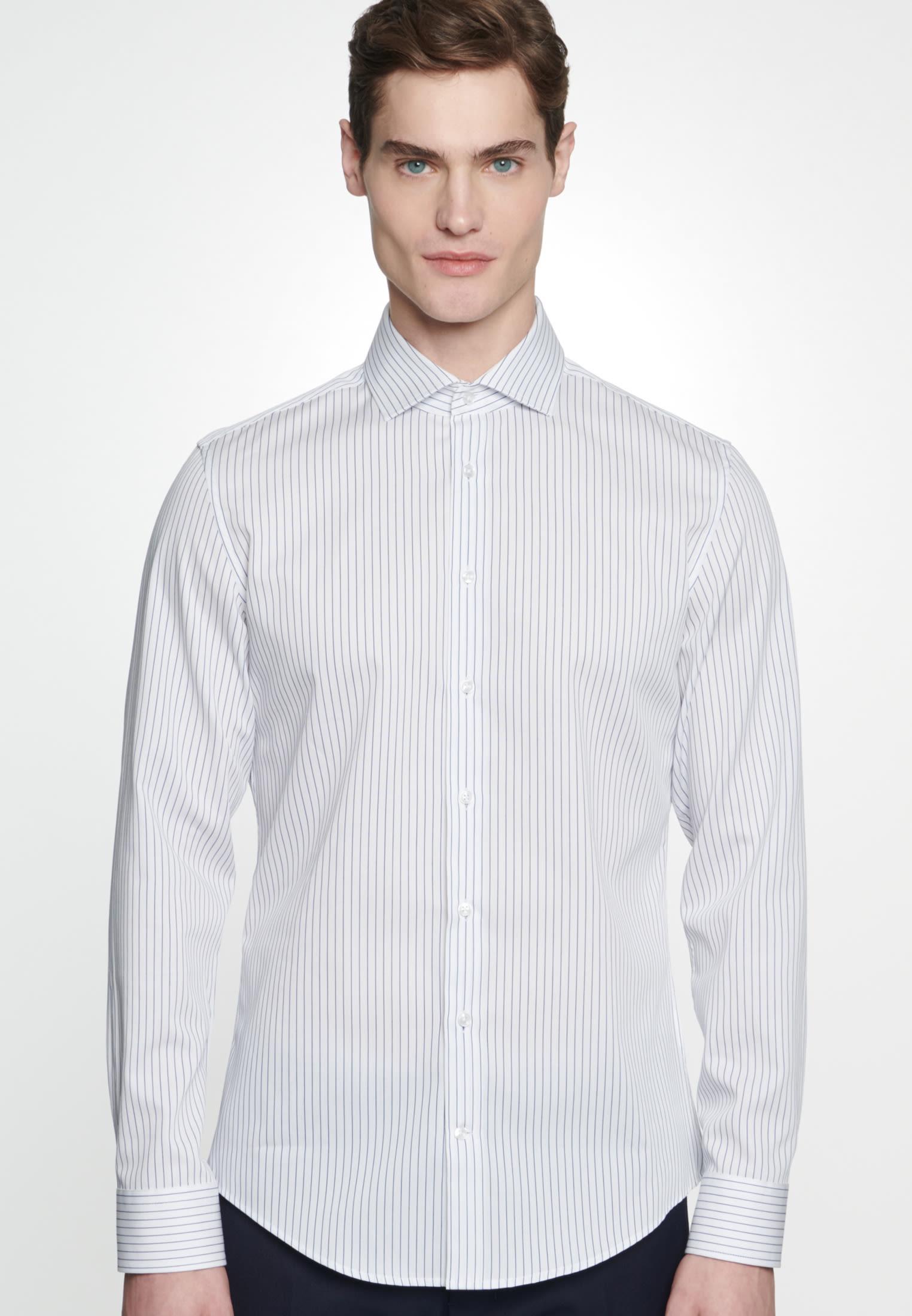 Bügelleichtes Cotele Business Hemd in Slim mit Kentkragen in Weiß |  Seidensticker Onlineshop