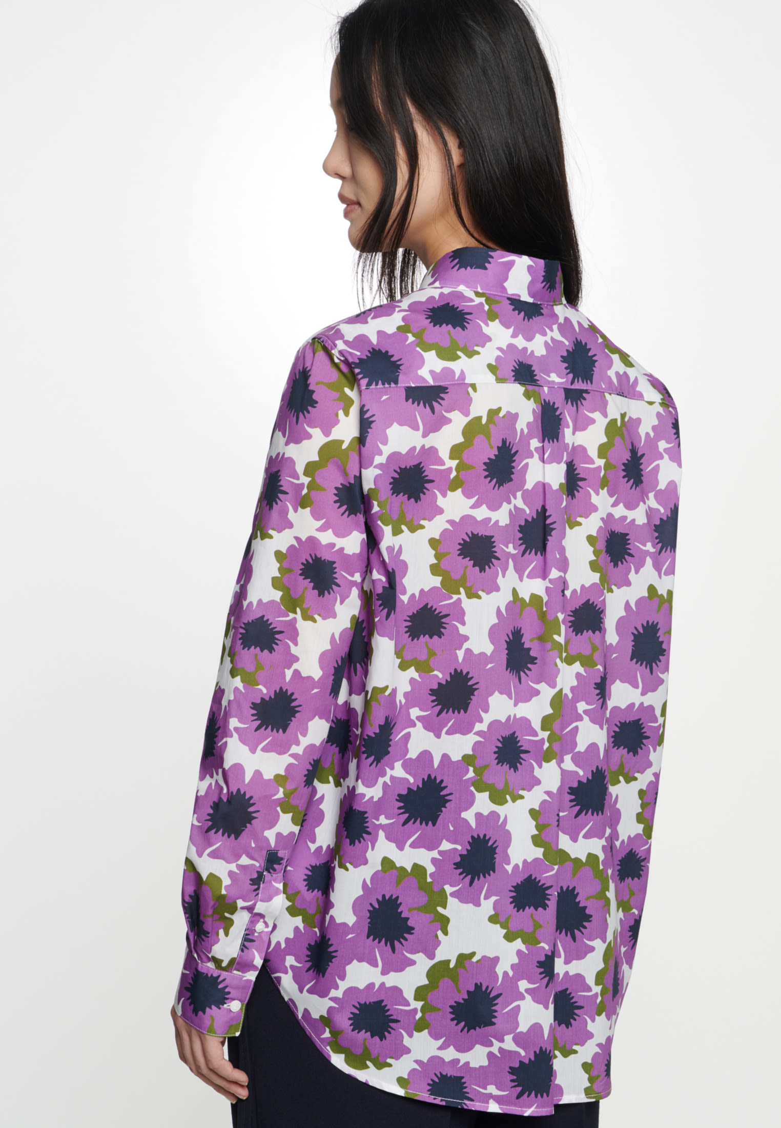 Voile Shirt Blouse made of 100% Cotton in Purple |  Seidensticker Onlineshop
