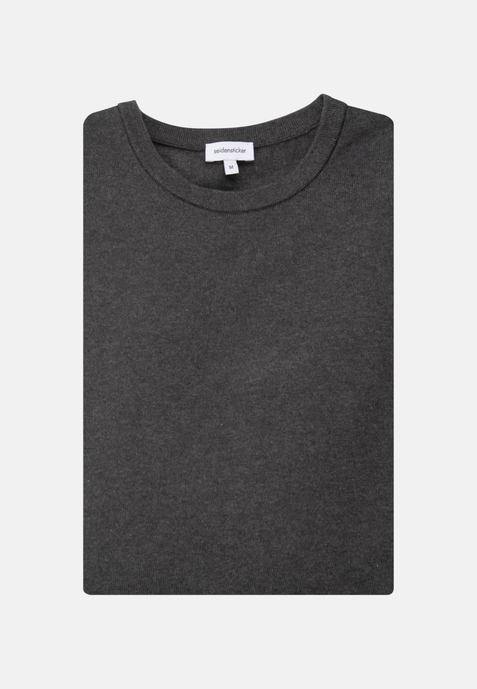 Rundhals Pullover aus 100% Baumwolle in Grau    Seidensticker Onlineshop